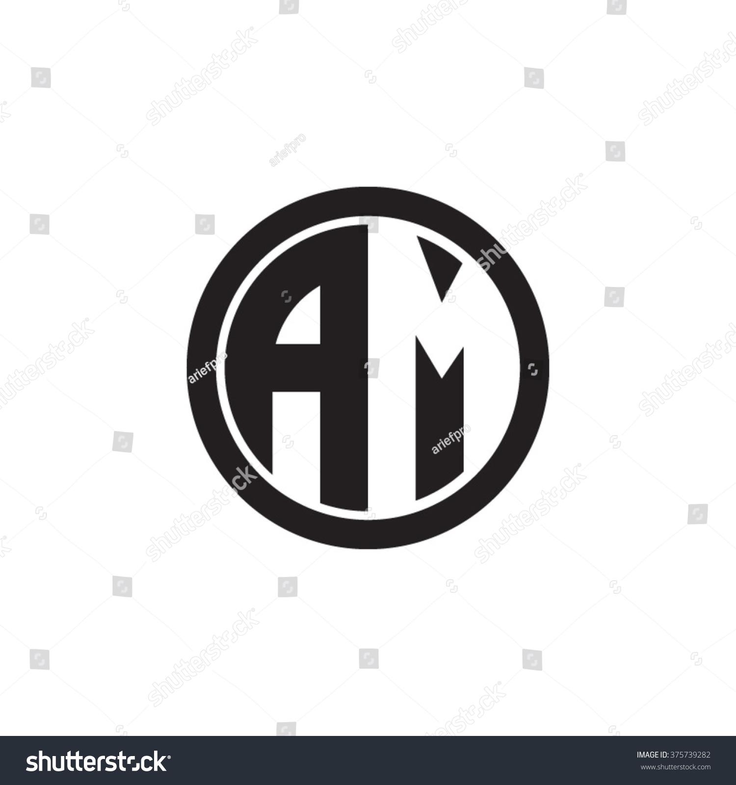 am initial letters circle monogram logo
