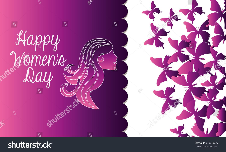 Happy Womens Day Design Stock Vector 375748072 - Shutterstock