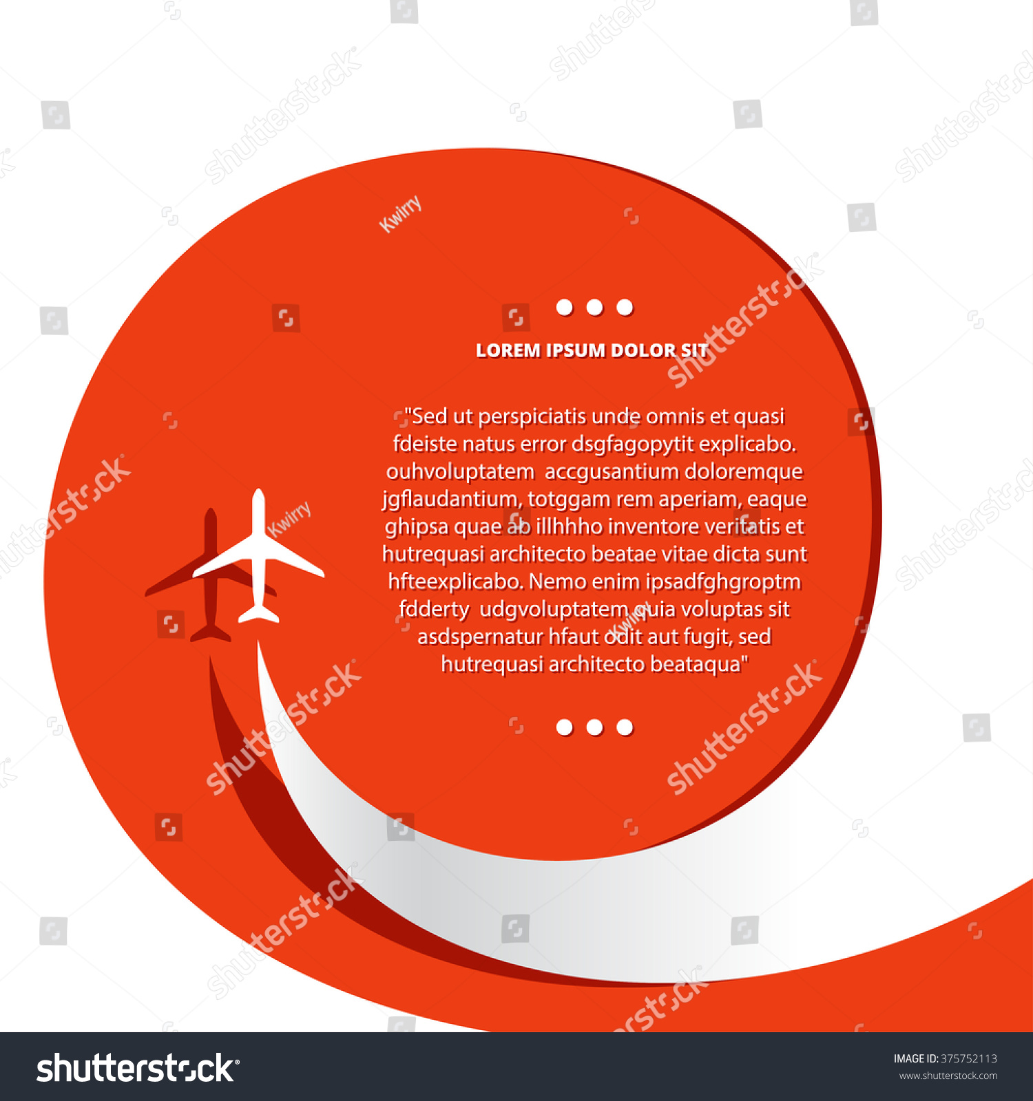 Vector Poster Airplane Airplane Stream Jet Stock Vector HD (Royalty ...
