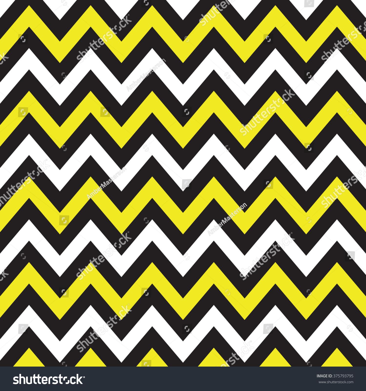 White Black Yellow Chevron Albums Graphics Stock Illustration