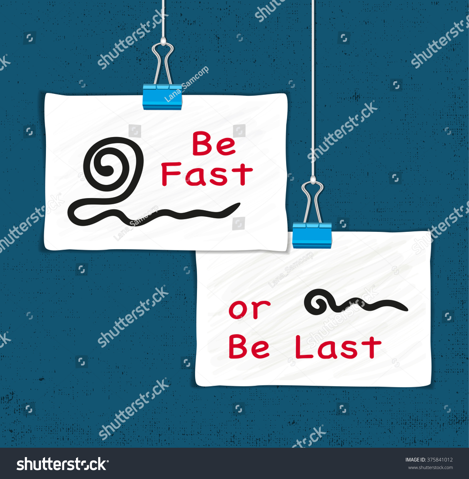motivational quote be fast be last stock vector royalty free
