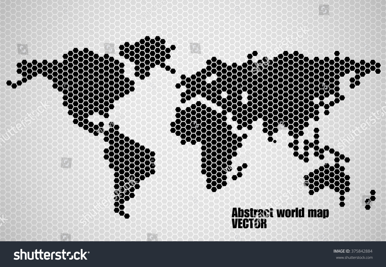 Abstract world map hexagons vector illustration stock vector abstract world map of hexagons vector illustration eps 10 gumiabroncs Gallery