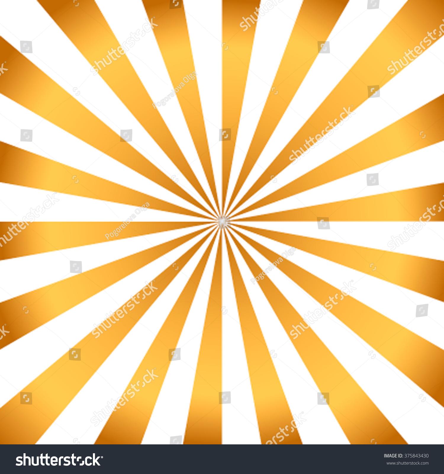 white golden rays vector carnival background stock vector (royalty