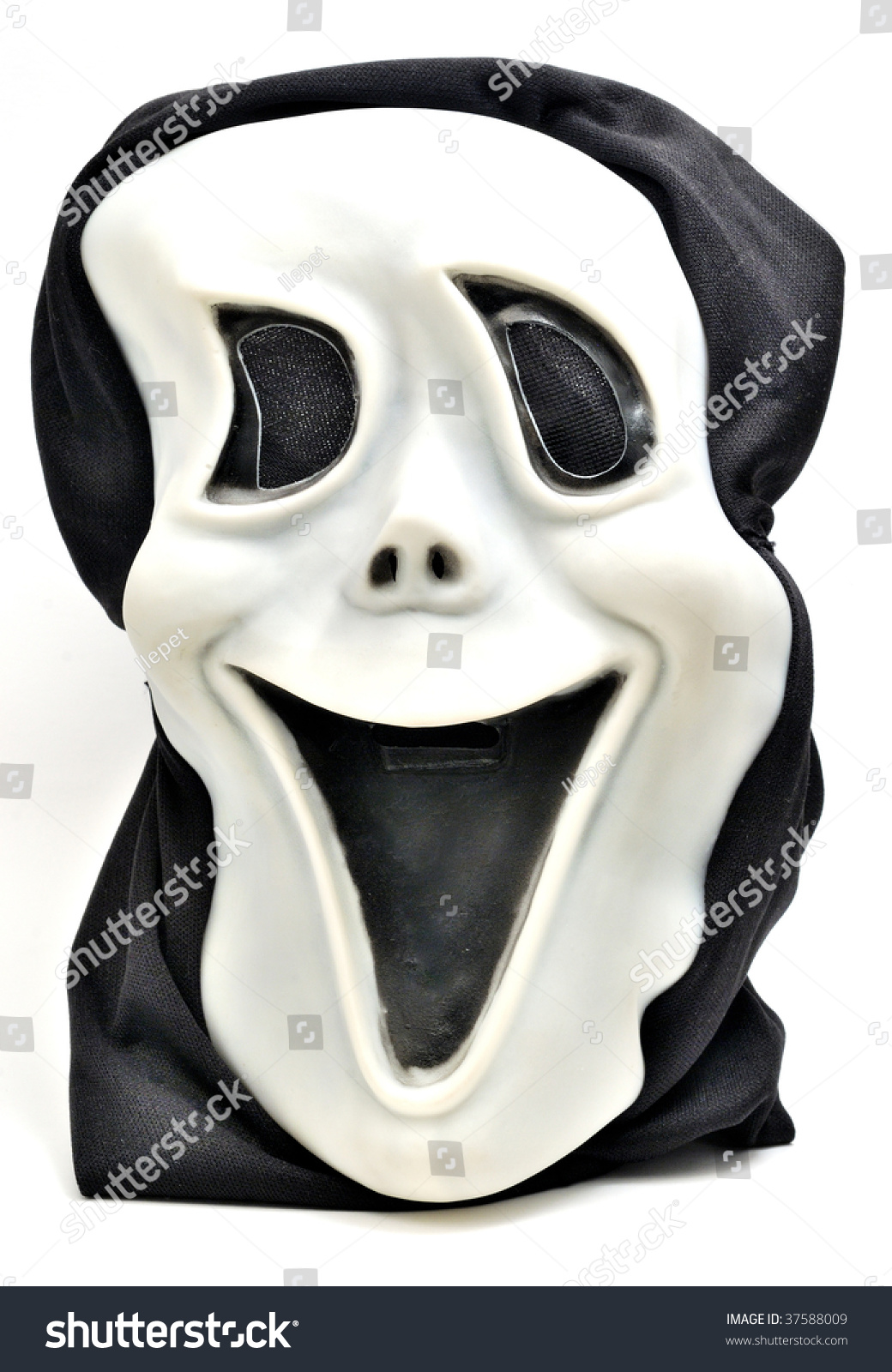 halloween mask isolated on white background stock photo (edit now