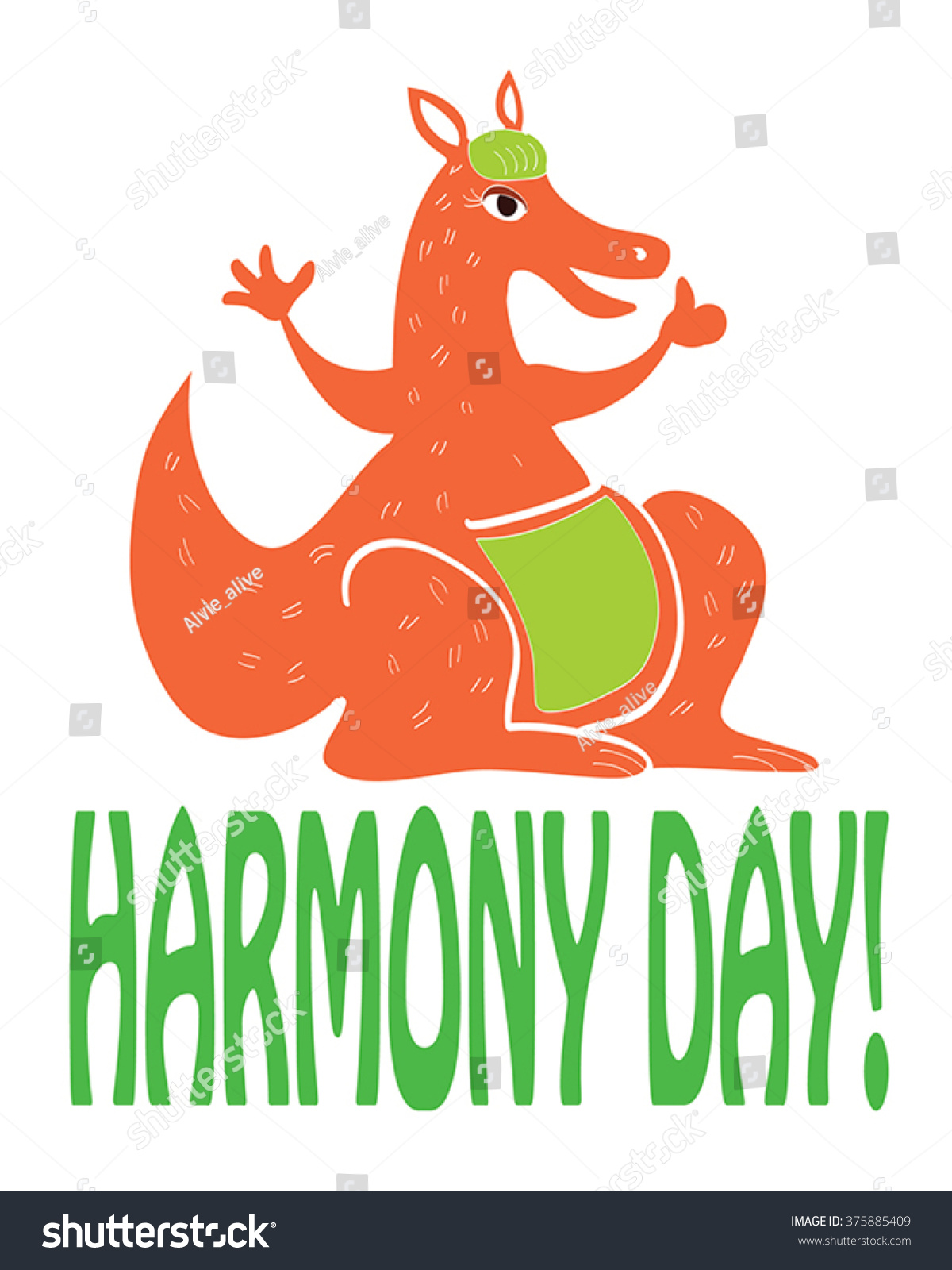 Harmony Day Australia Funny Greeting Card Stock Vector Royalty Free