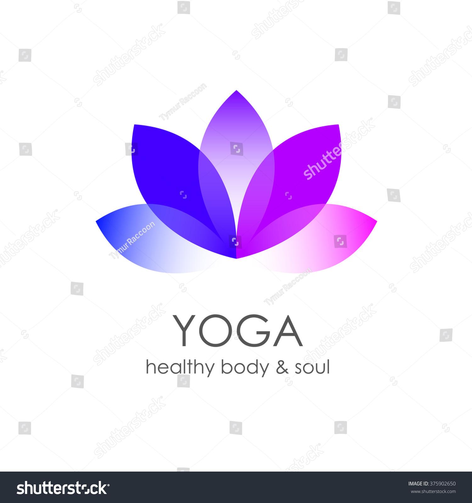 Lotus Flower Yoga Symbol Template Logo Stock Illustration Shutter
