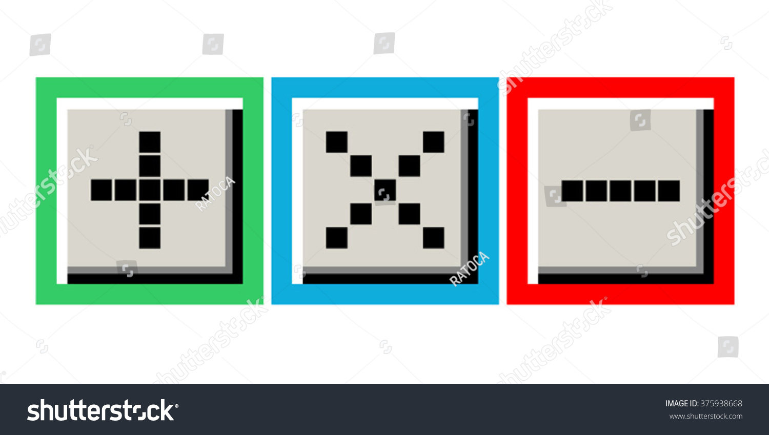 More Less Symbol Stock Vector Hd Royalty Free 375938668 Shutterstock
