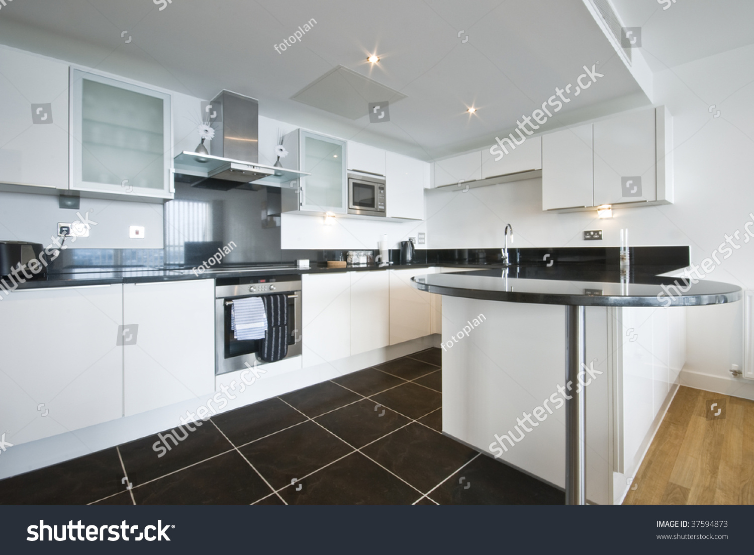Granite Kitchen Work Tops Modern White Kitchen Granite Work Top Stock Photo 37594873