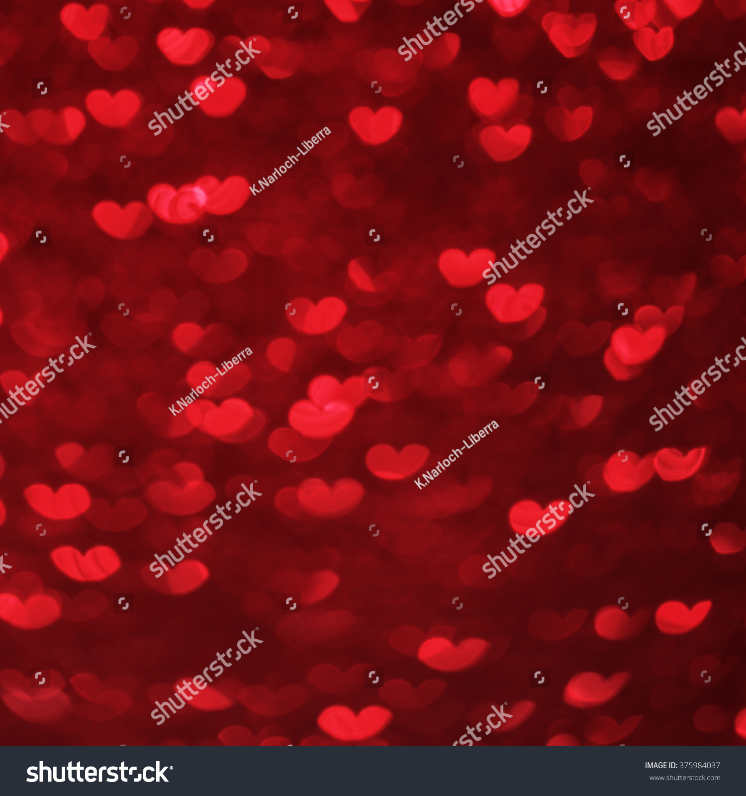 Hearts Bokeh Background Valentine's day background