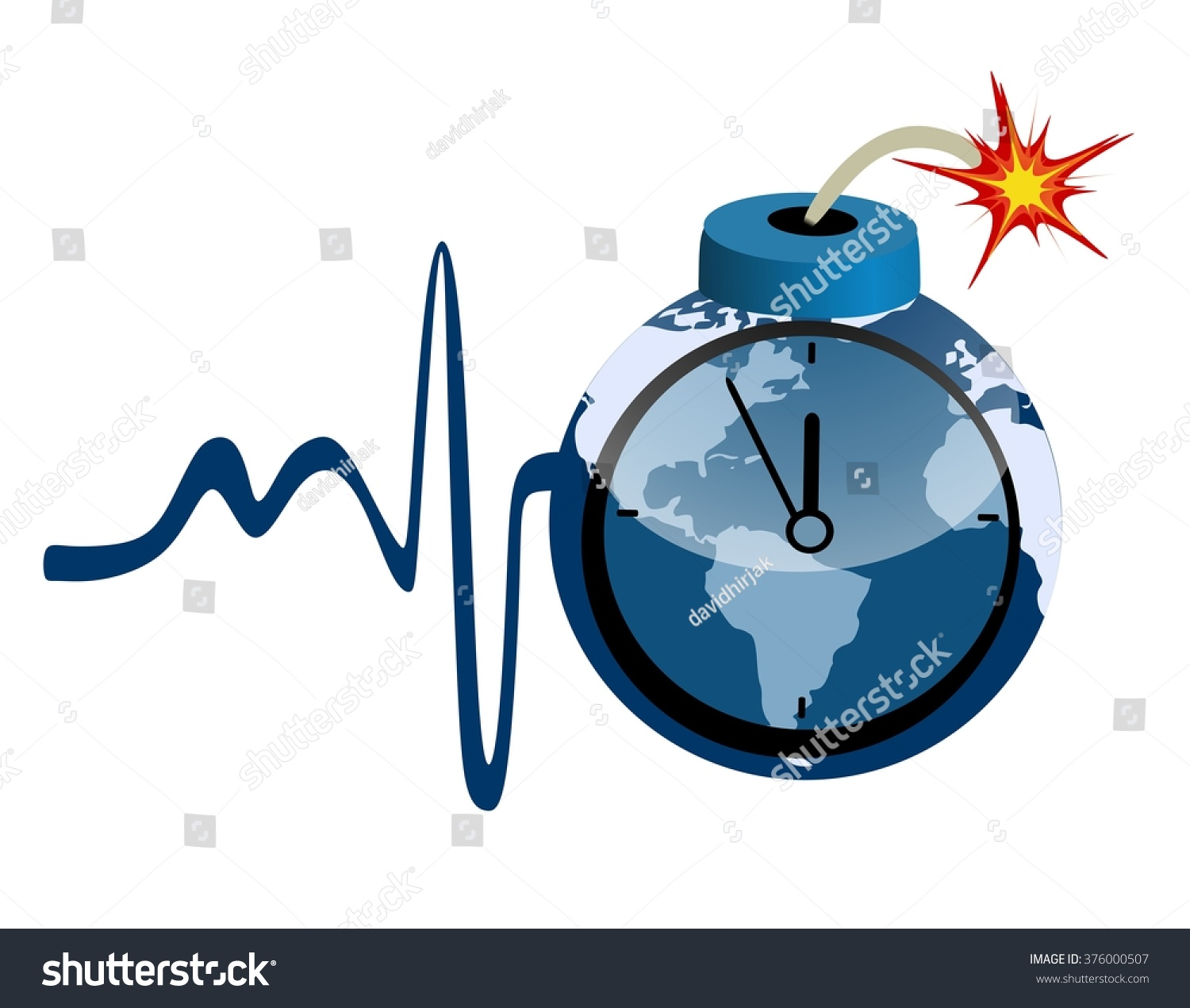 Blue bomb world map first aid stock illustration 376000507 blue bomb with world map and first aid five minutes to twelve gumiabroncs Image collections