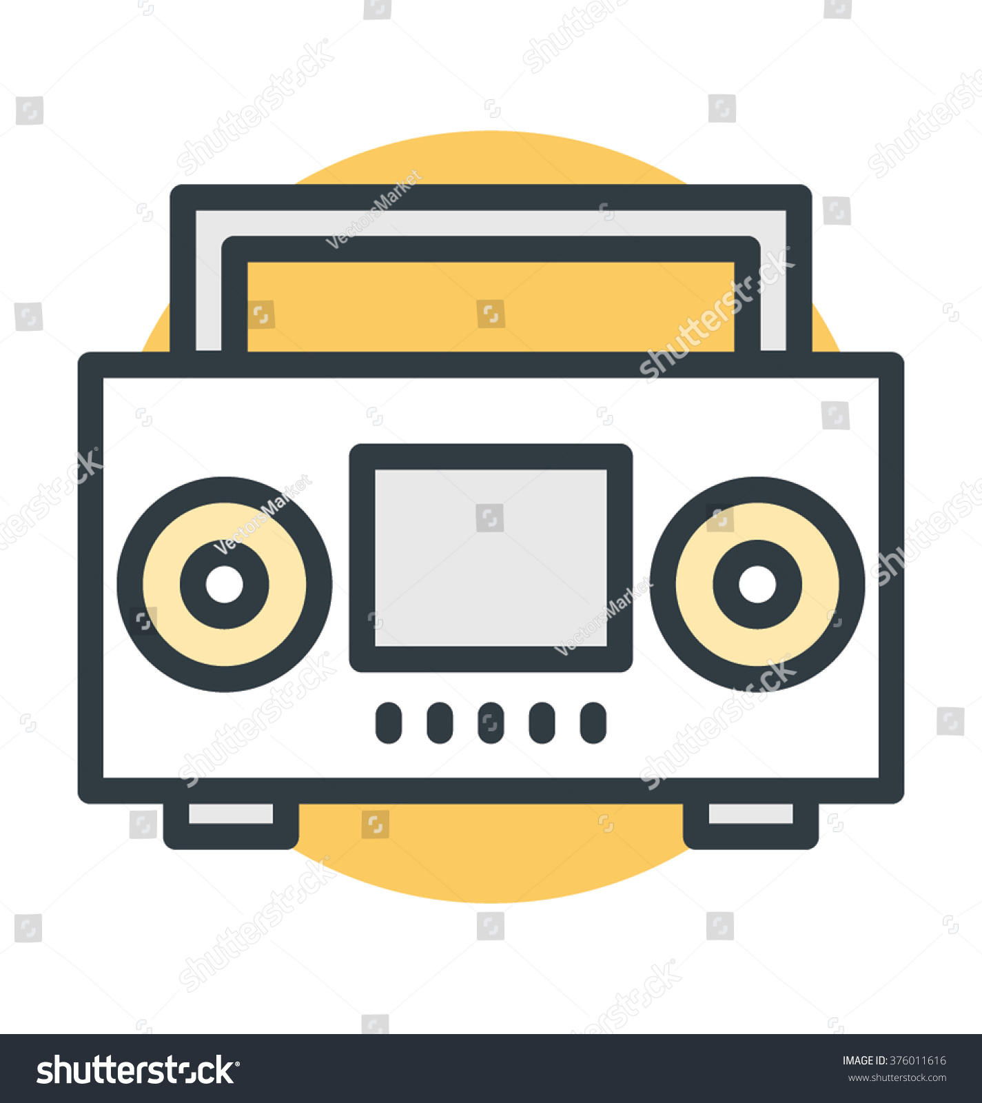 boombox vector icon stock vector 376011616 shutterstock rh shutterstock com old boombox vector boombox vector free