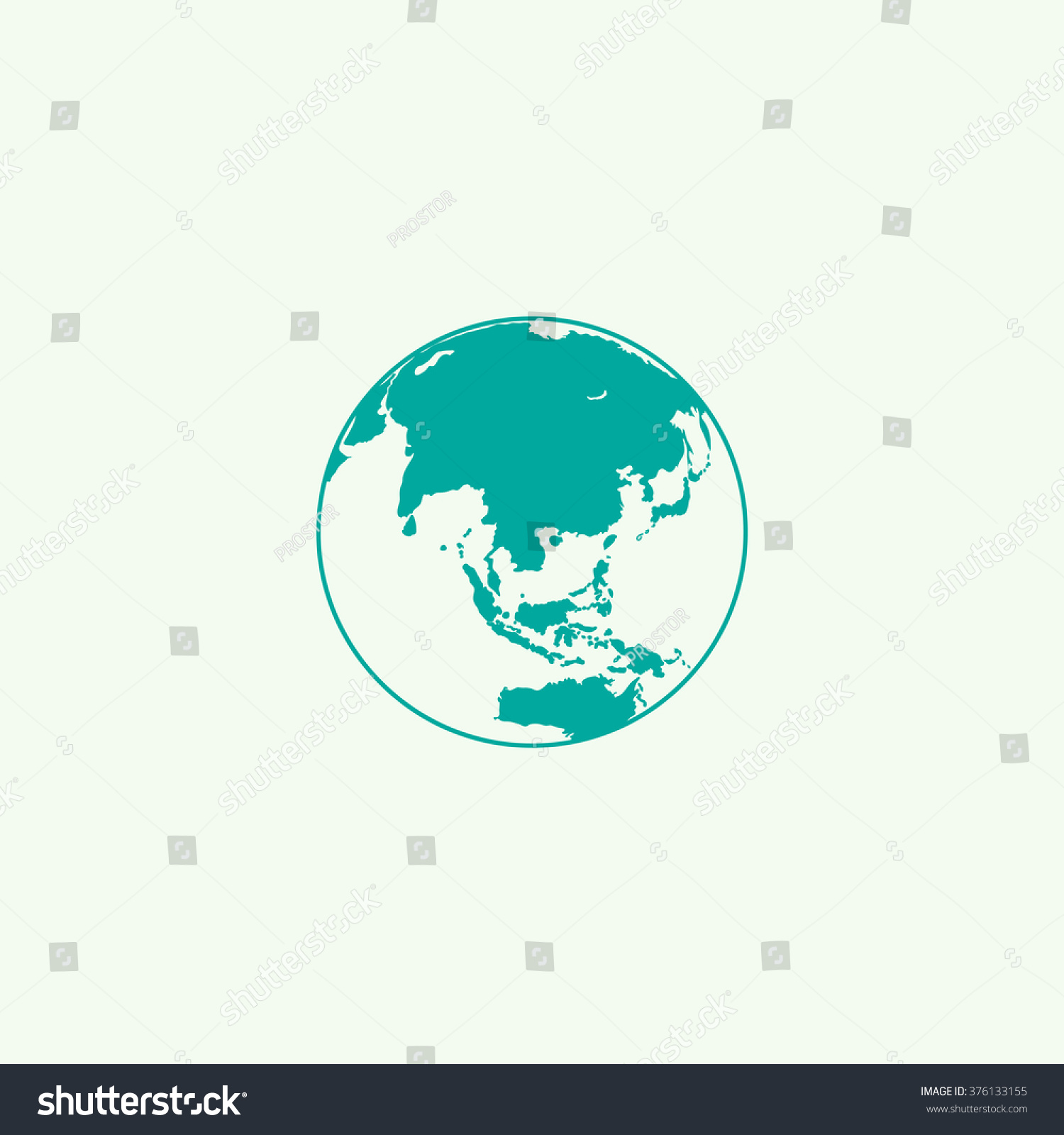 The globe icon Globe symbol Flat Vector illustration