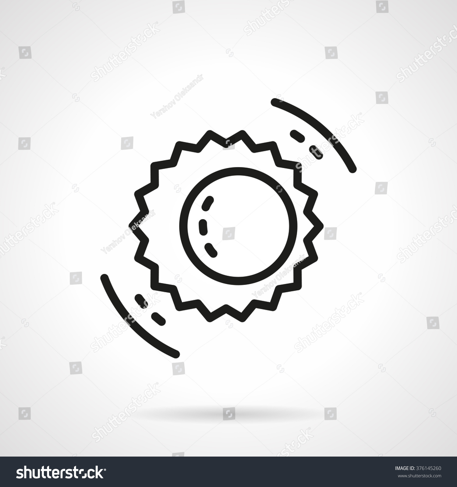 Sun moon symbol solar eclipse astronomy stock vector 376145260 sun and moon symbol solar eclipse astronomy events space research concept education biocorpaavc Images