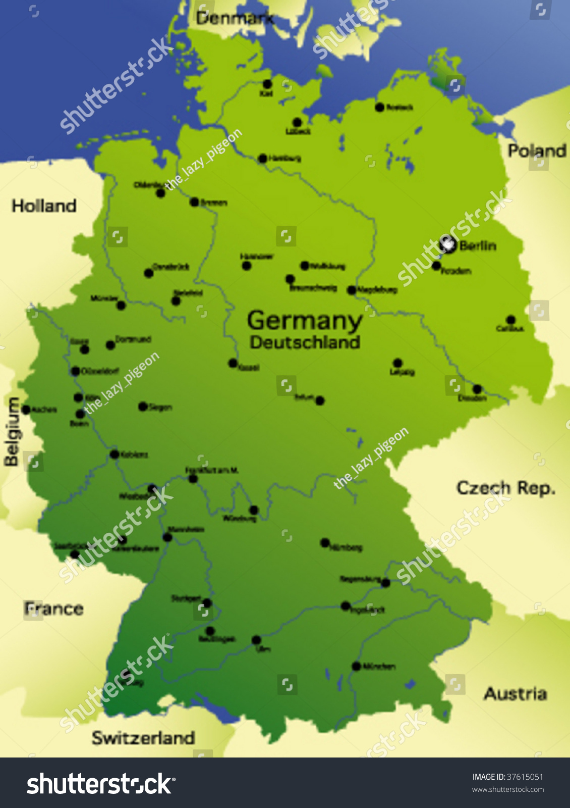 detailed map of germany - Ecosia