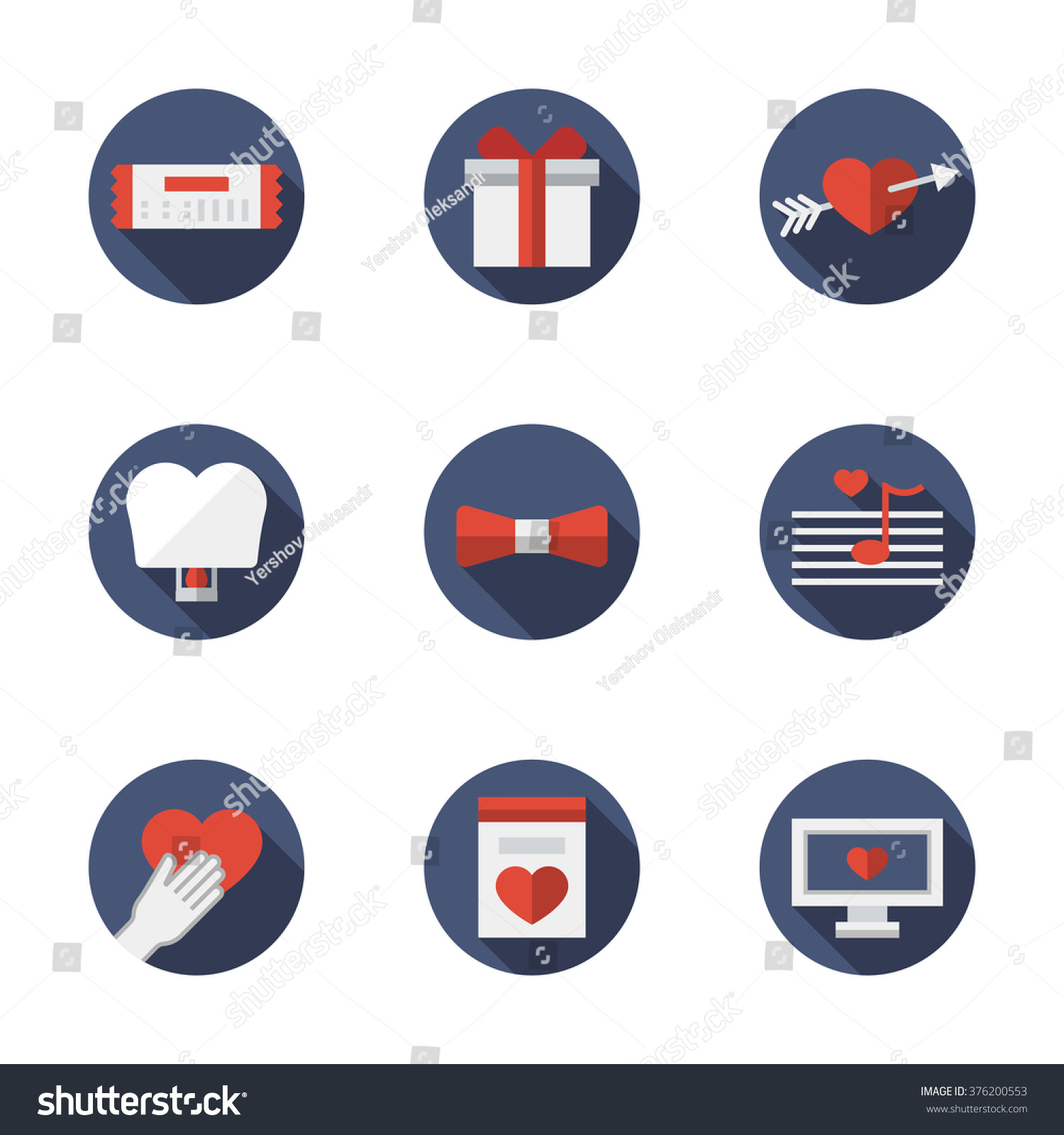 Dating Flirting Elements Love Relationships Proposal Stock Vector