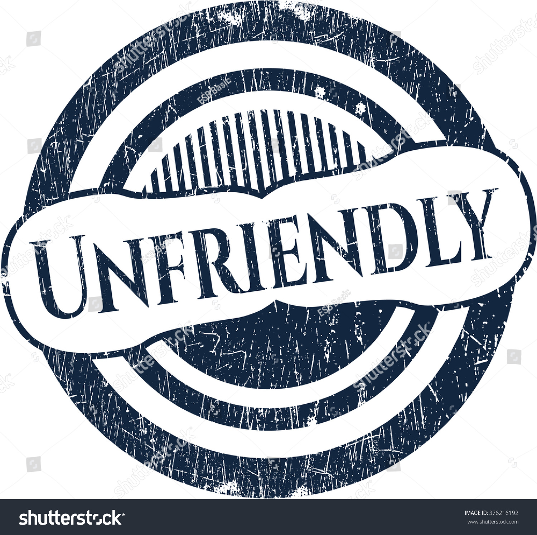 Unfriendly Grunge Seal Stock Vector Illustration 376216192 ...