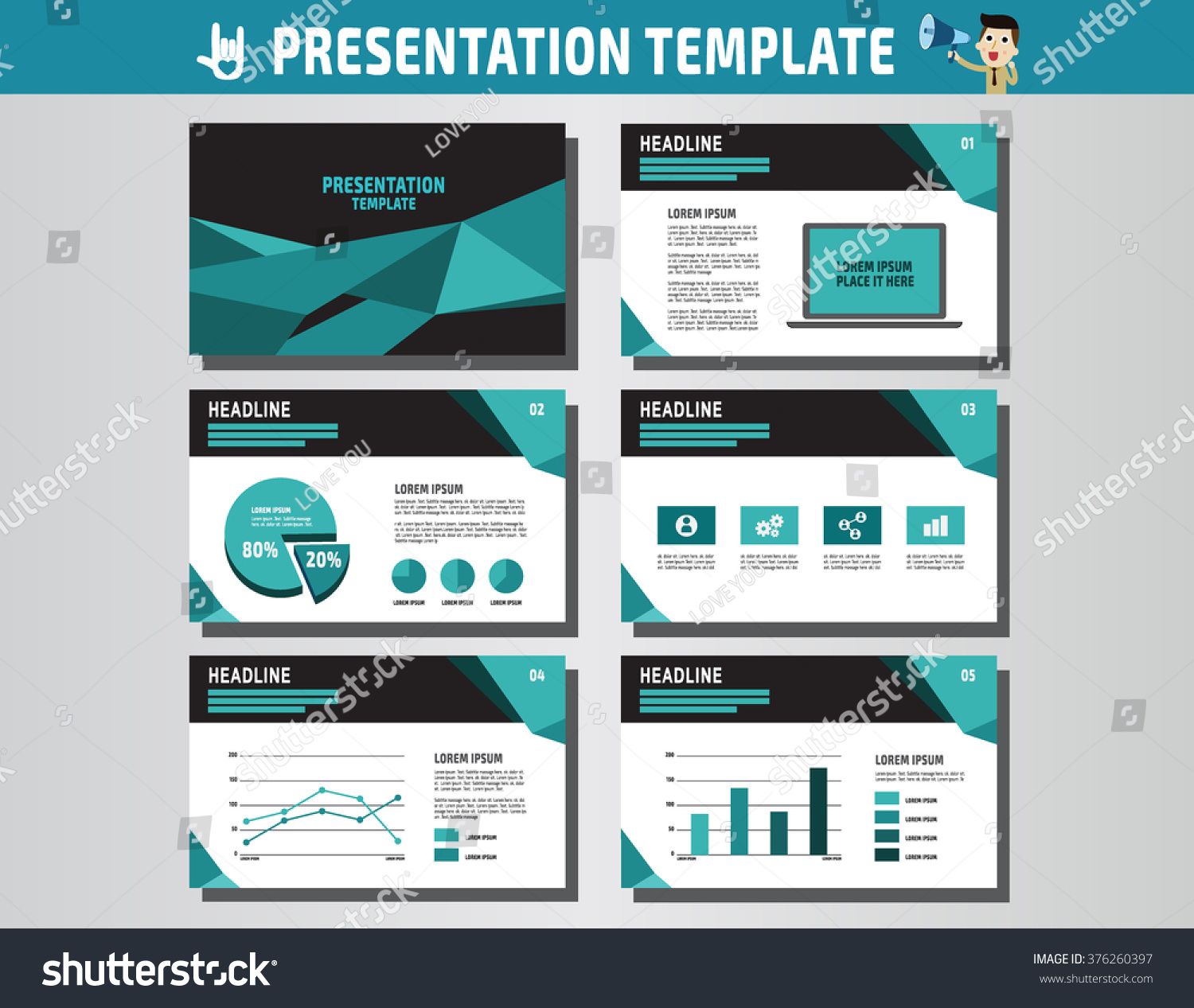 Blue And White Element For Slide Infographic On Background