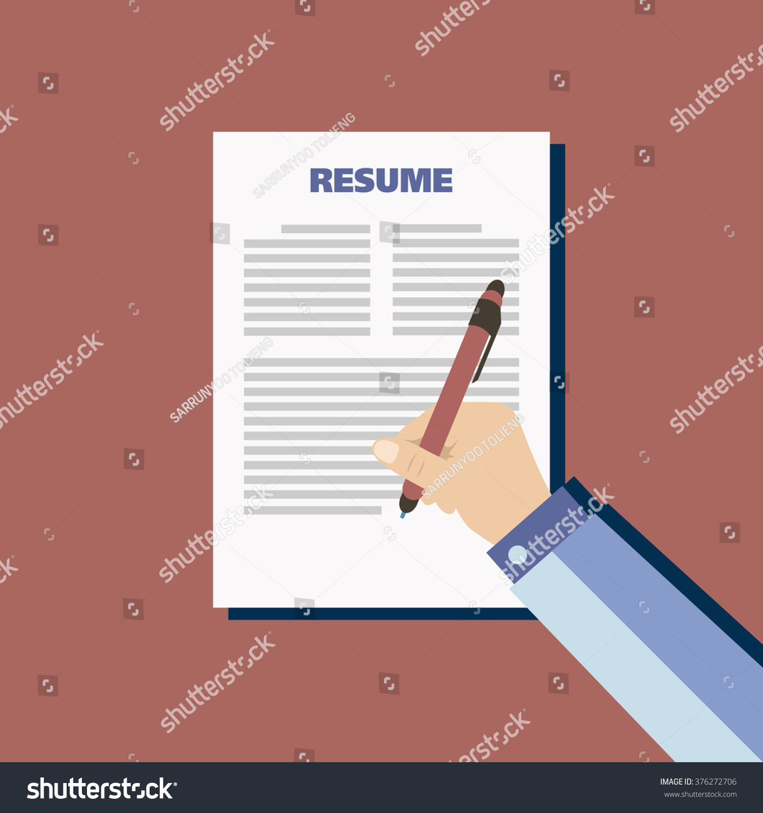 Business Red Background Resume Vector Stock Vector Royalty Free