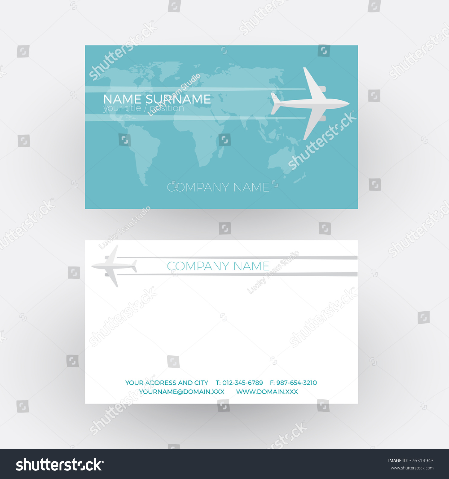 Vector Air Travel Background Airplane Fly Stock Vector 376314943 ...