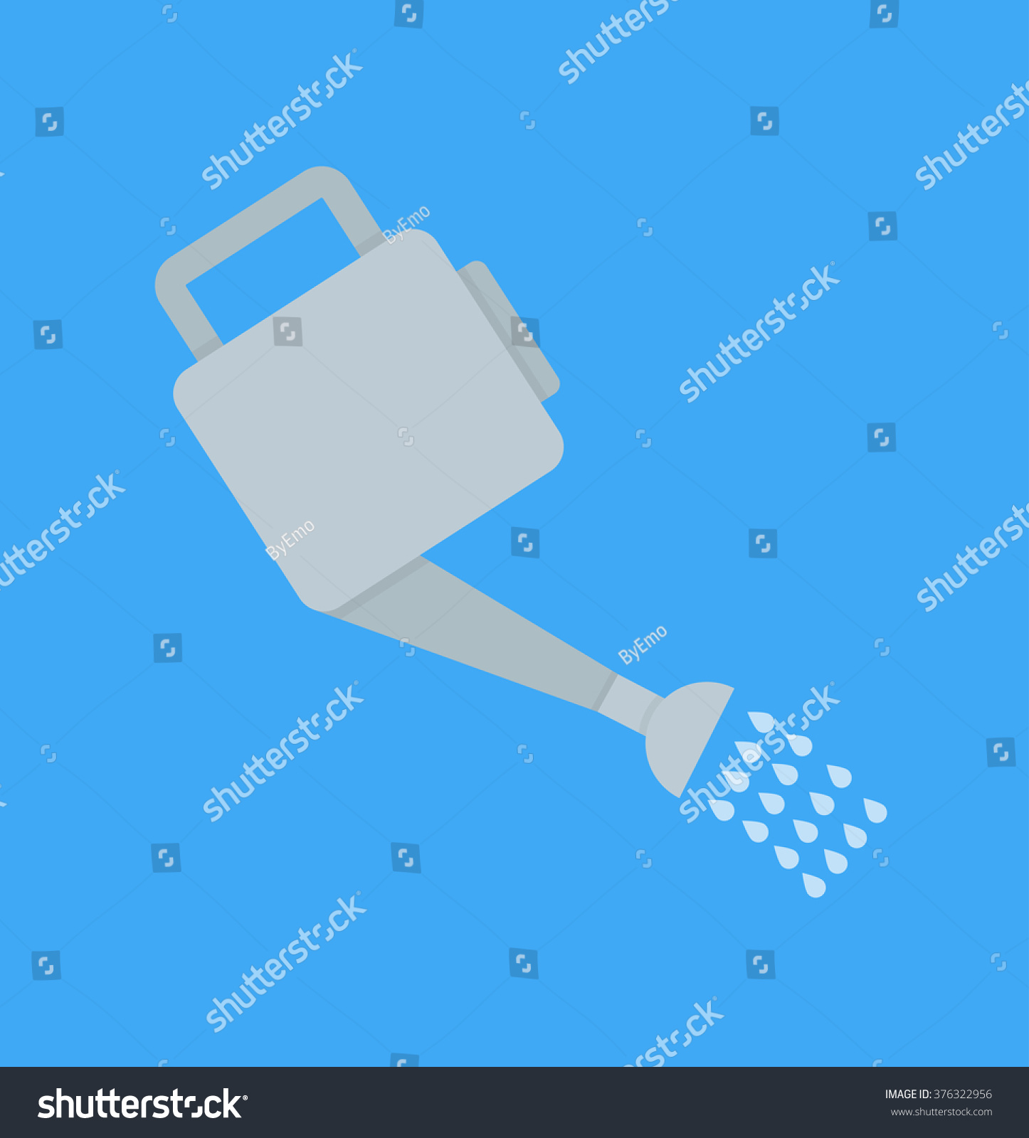 Watering Can Flat Design Stock Image Download Now