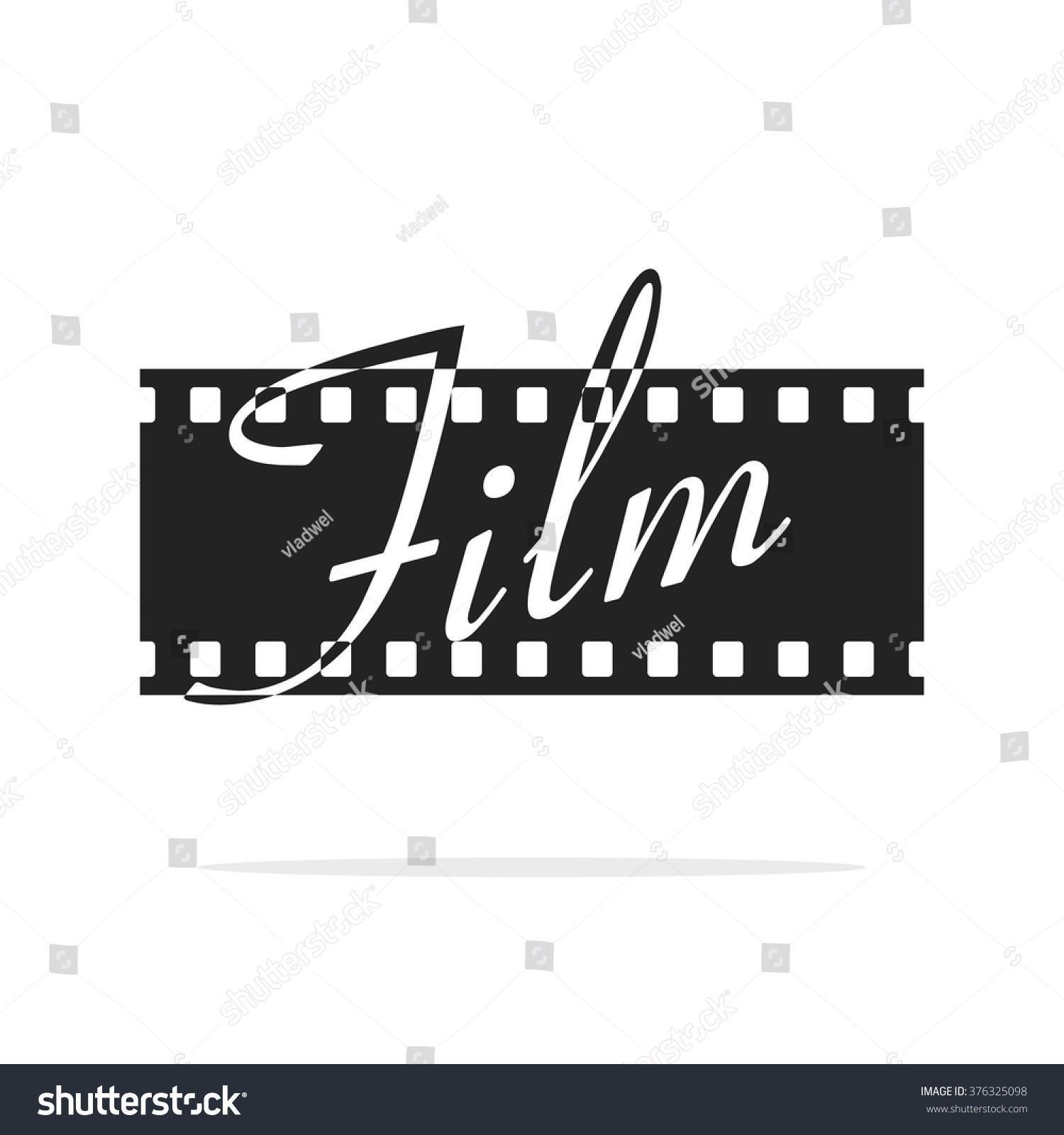 Camera film strip vector logo with film text filmstrip for Camera film logo