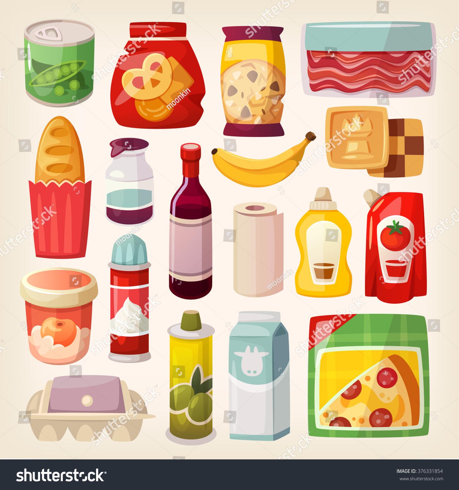 everyday goods vector common shutterstock supermarket shopping