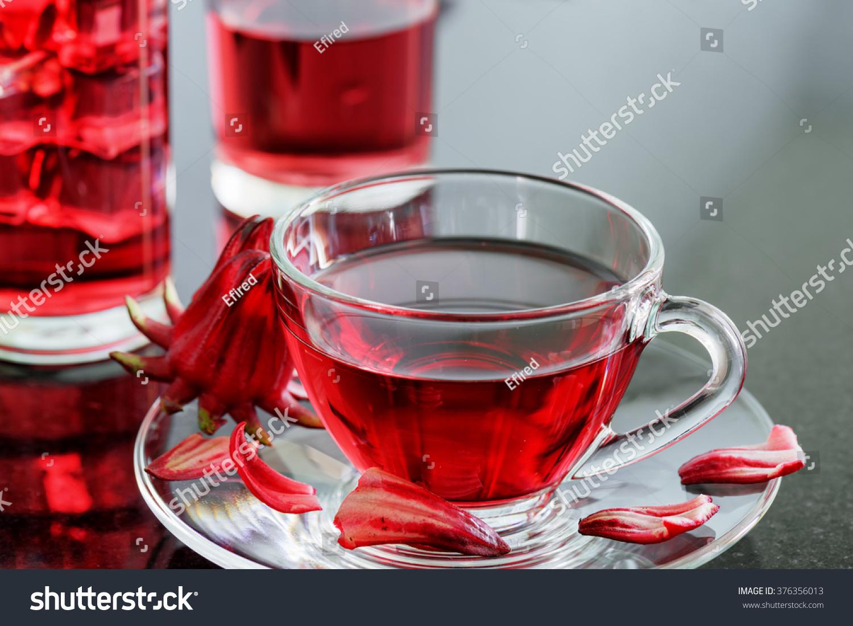 Royalty Free Cup Of Magenta Hibiscus Tea Rosella 376356013 Stock