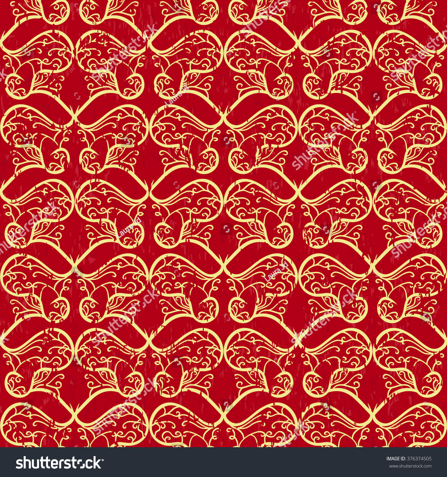 Red Gold Medieval Pattern Stock Vector (Royalty Free) 376374505 ...