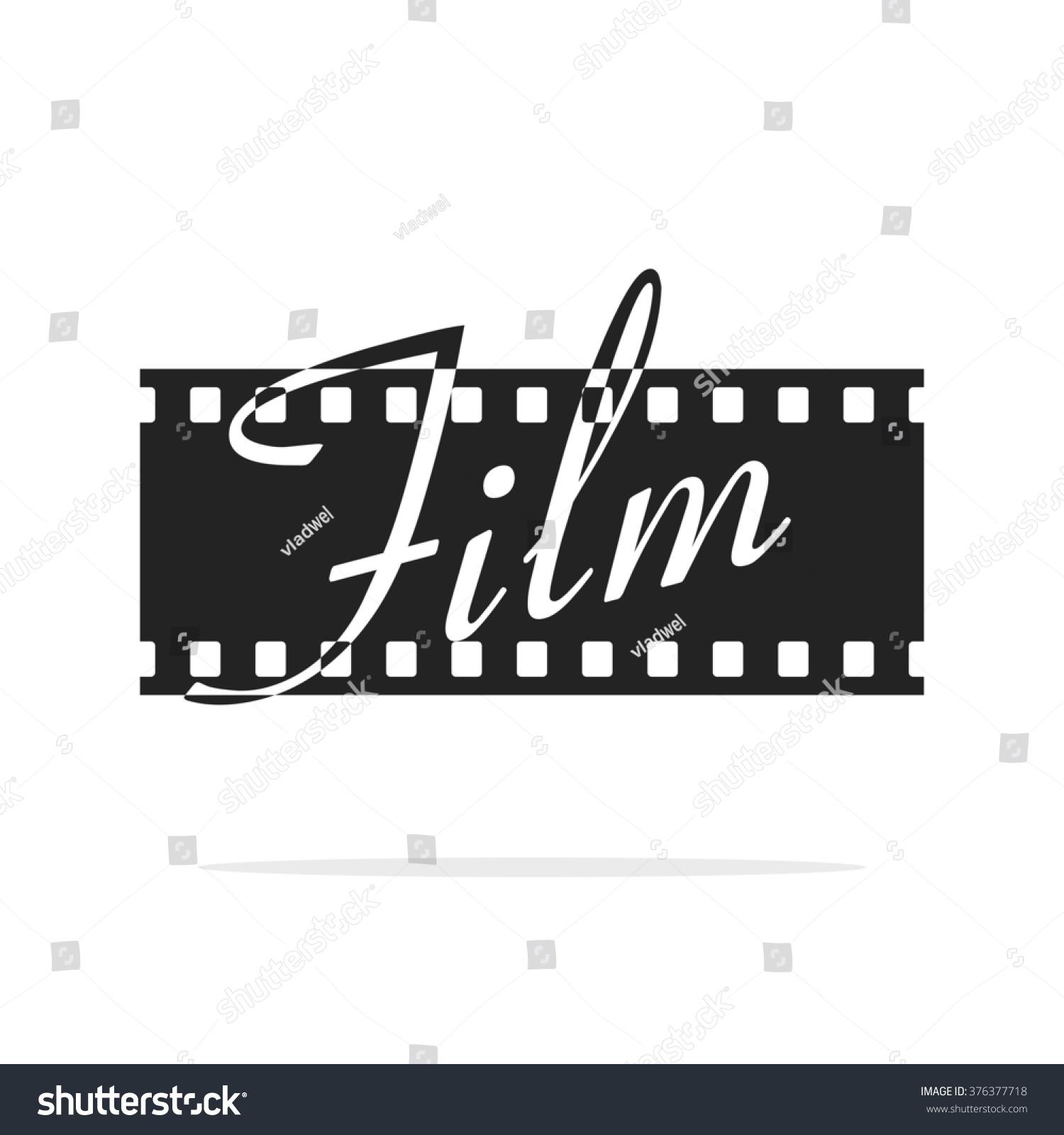 Camera film strip logo film text stock illustration for Camera film logo