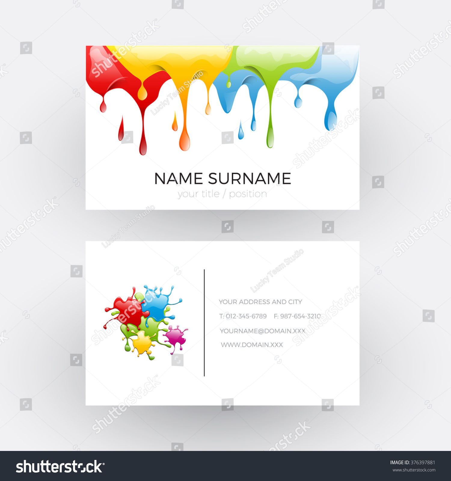 Vector Abstract Design Concept Painter Business Stock Vector