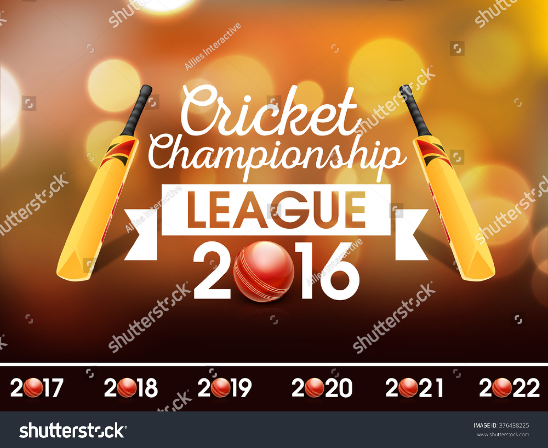 Cricket Vector Background Stock Image: Creative Poster Banner Flyer Design Cricket Stock Vector