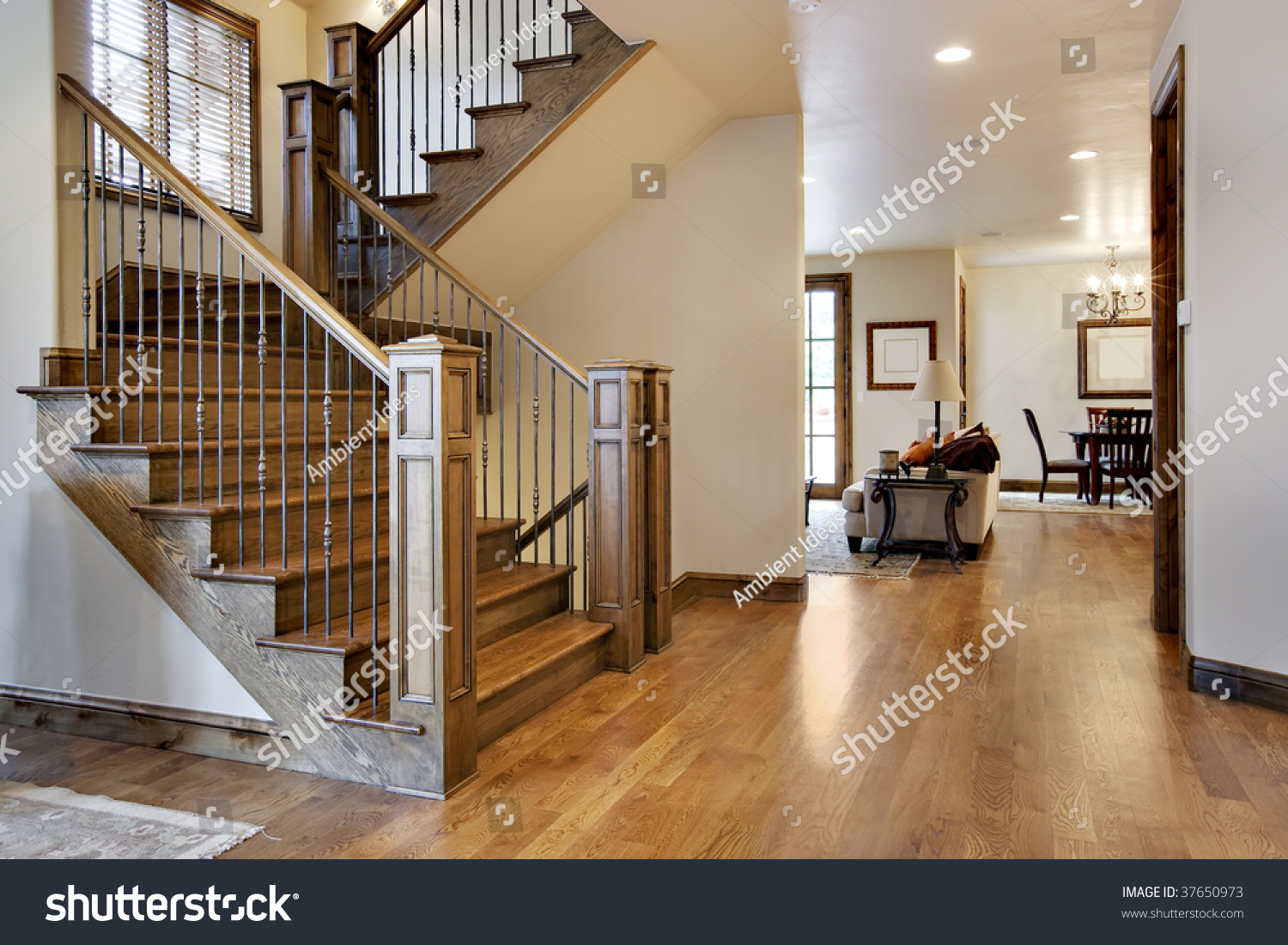 Foyer Entrance Hall Crossword Clue : Wood floored home entrance hall stock photo