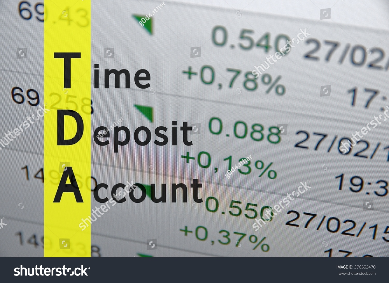 Acronym Tda Time Deposit Account Stock Illustration 376553470