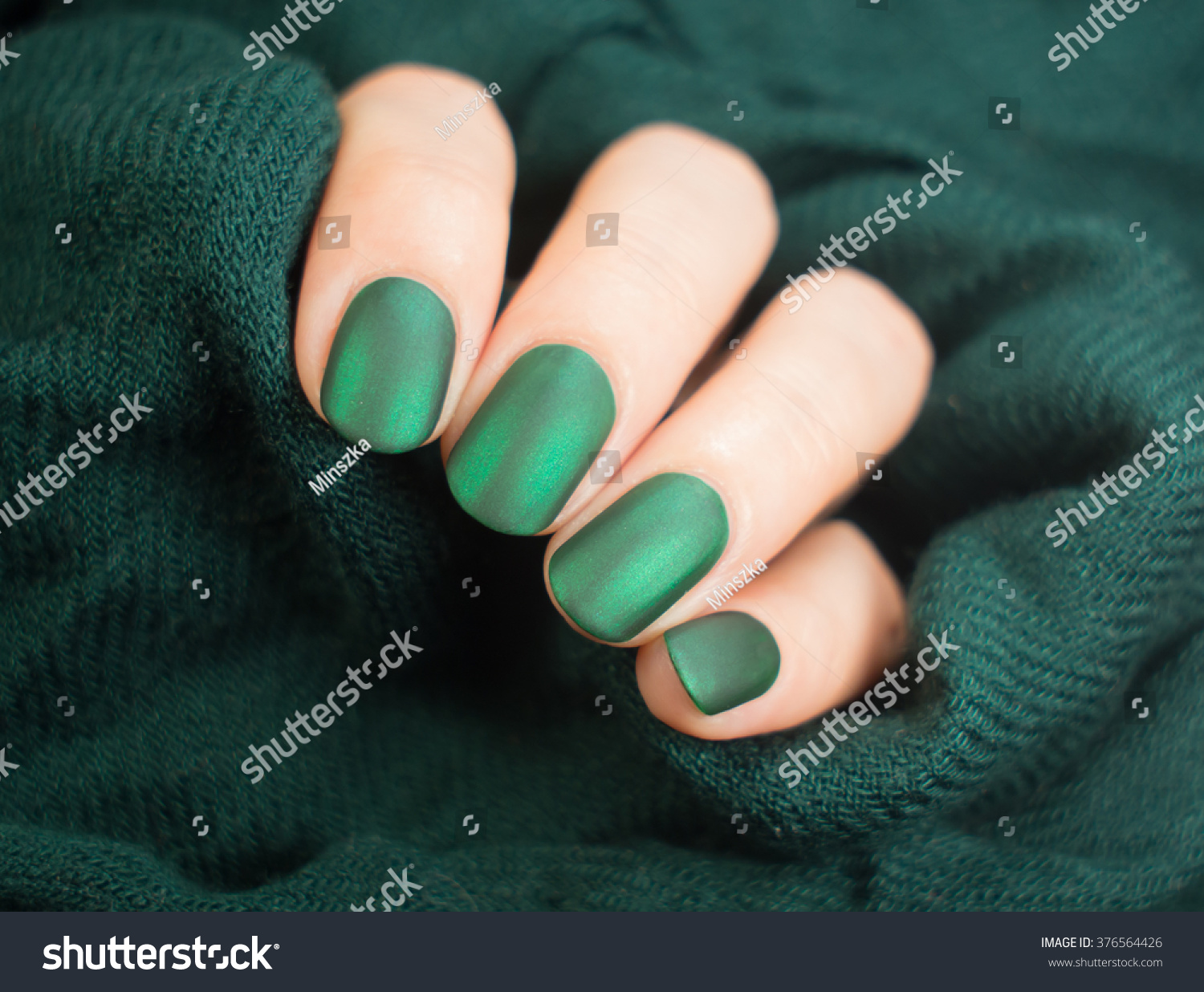 Beautiful Matt Nail Polish Hand Closeup Stock Photo (Safe to Use ...