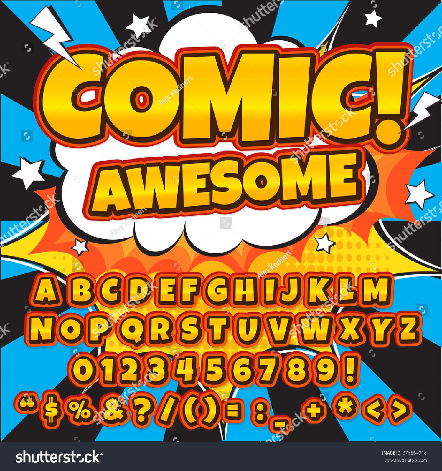 Comic Book Onomatopoeia Font