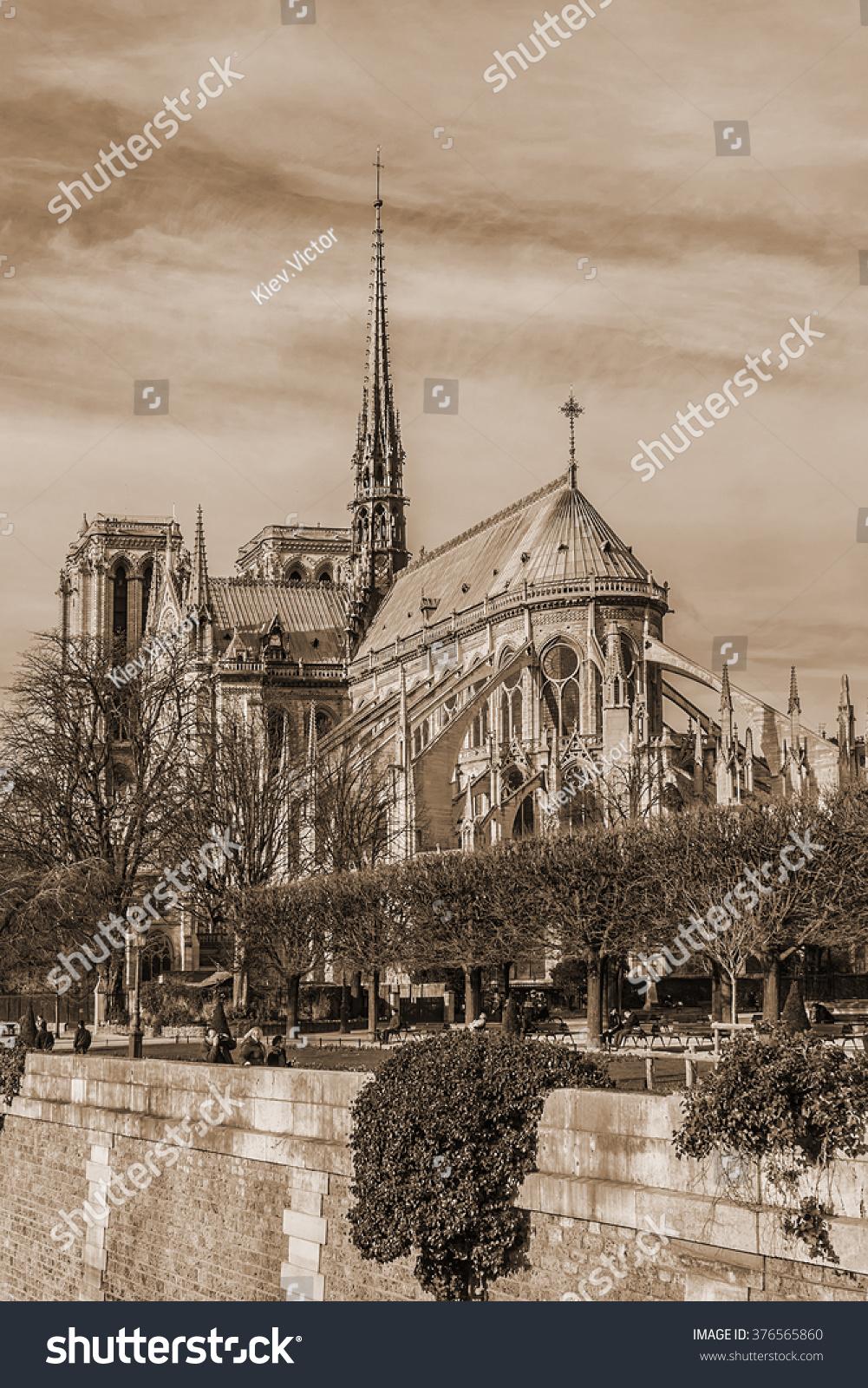 Royalty Free View Of Cathedral Notre Dame De Paris