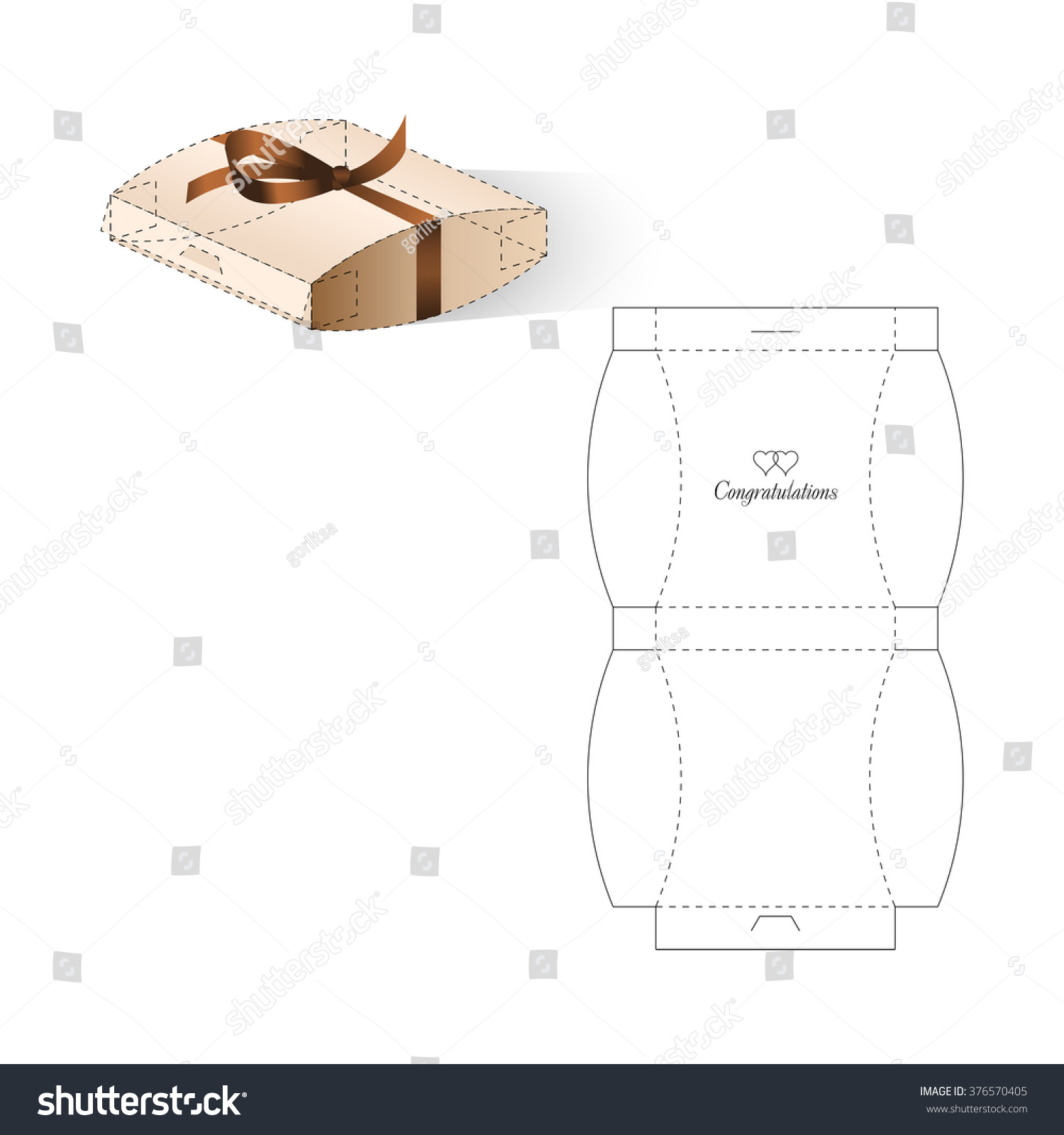 Retail Box Blueprint Template Vectores En Stock 376570405 ...