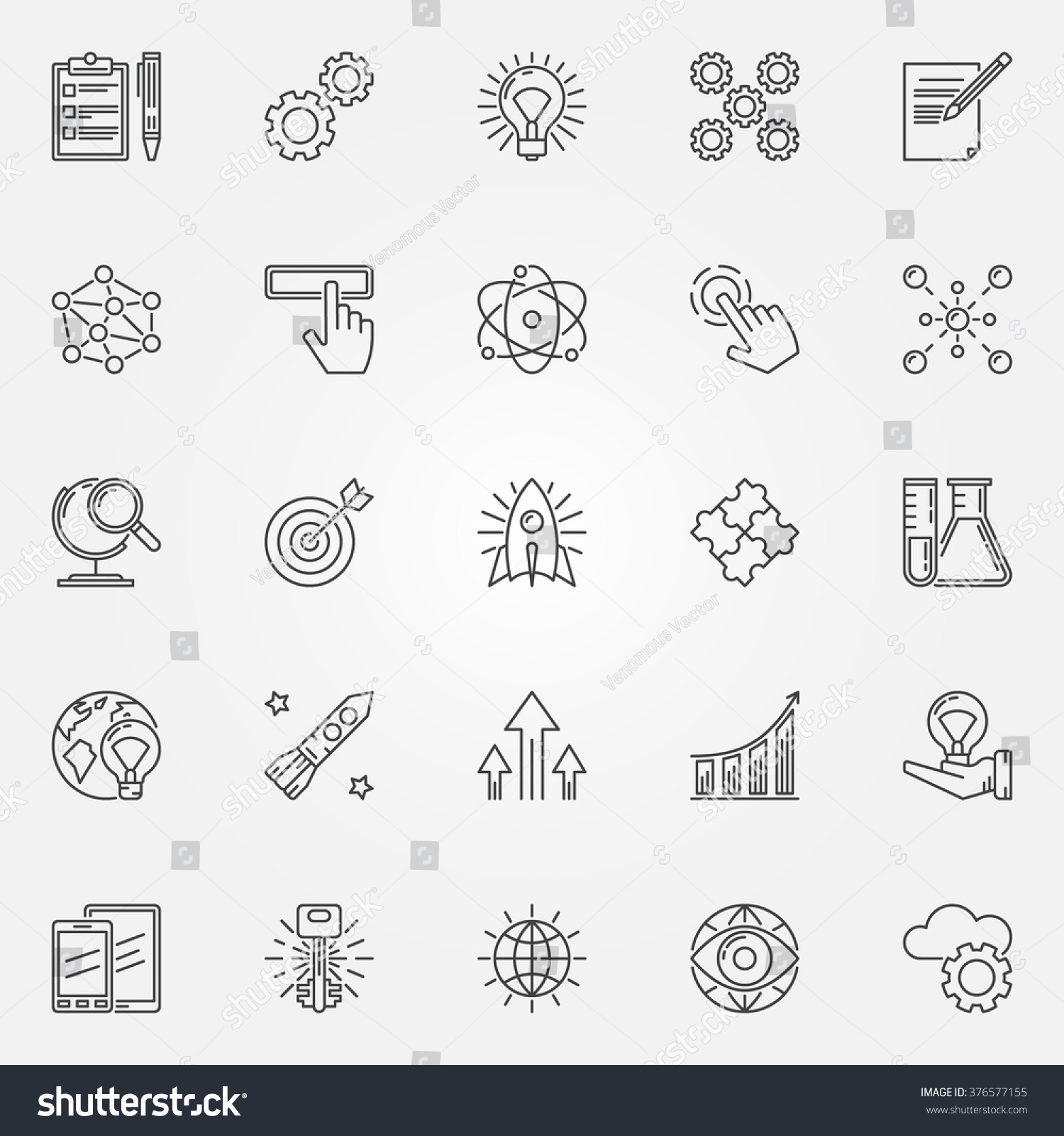 innovation icons set vector creativity innovation stock