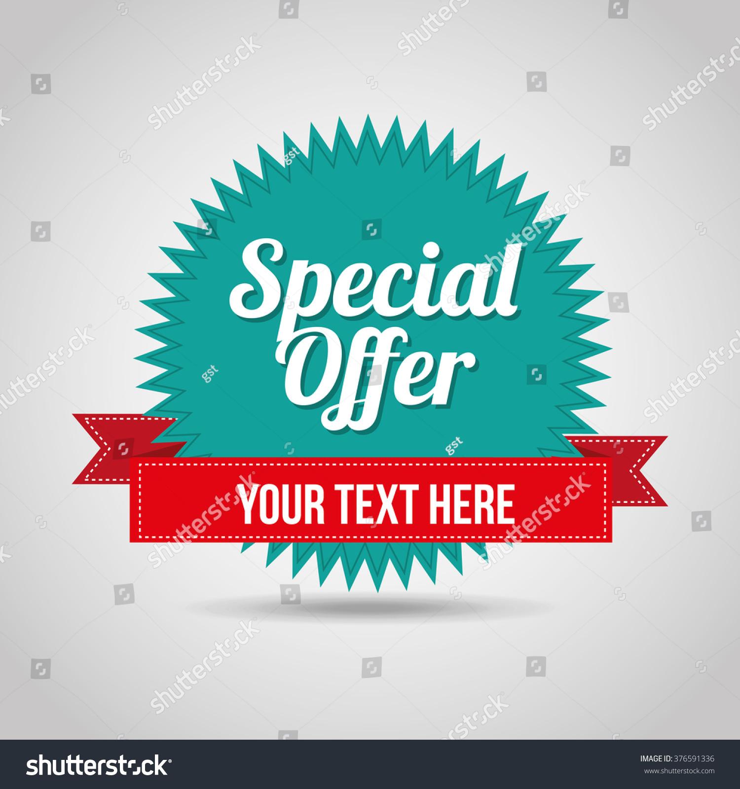 27 Cheap Design Ideas Offering: Special Offer Design Stock Vector 376591336