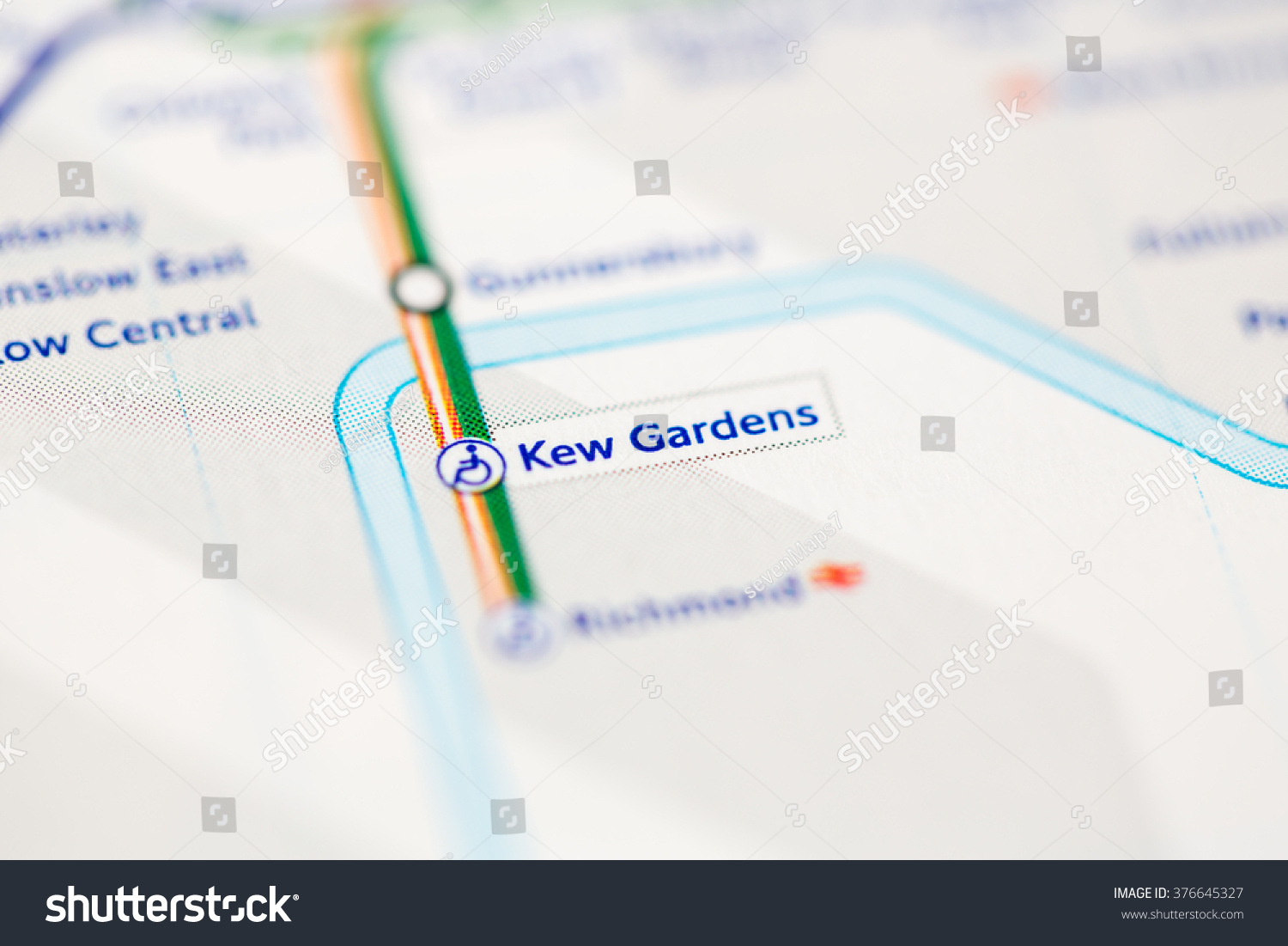 Kew Gardens Station London Overground London Stock Photo Edit Now