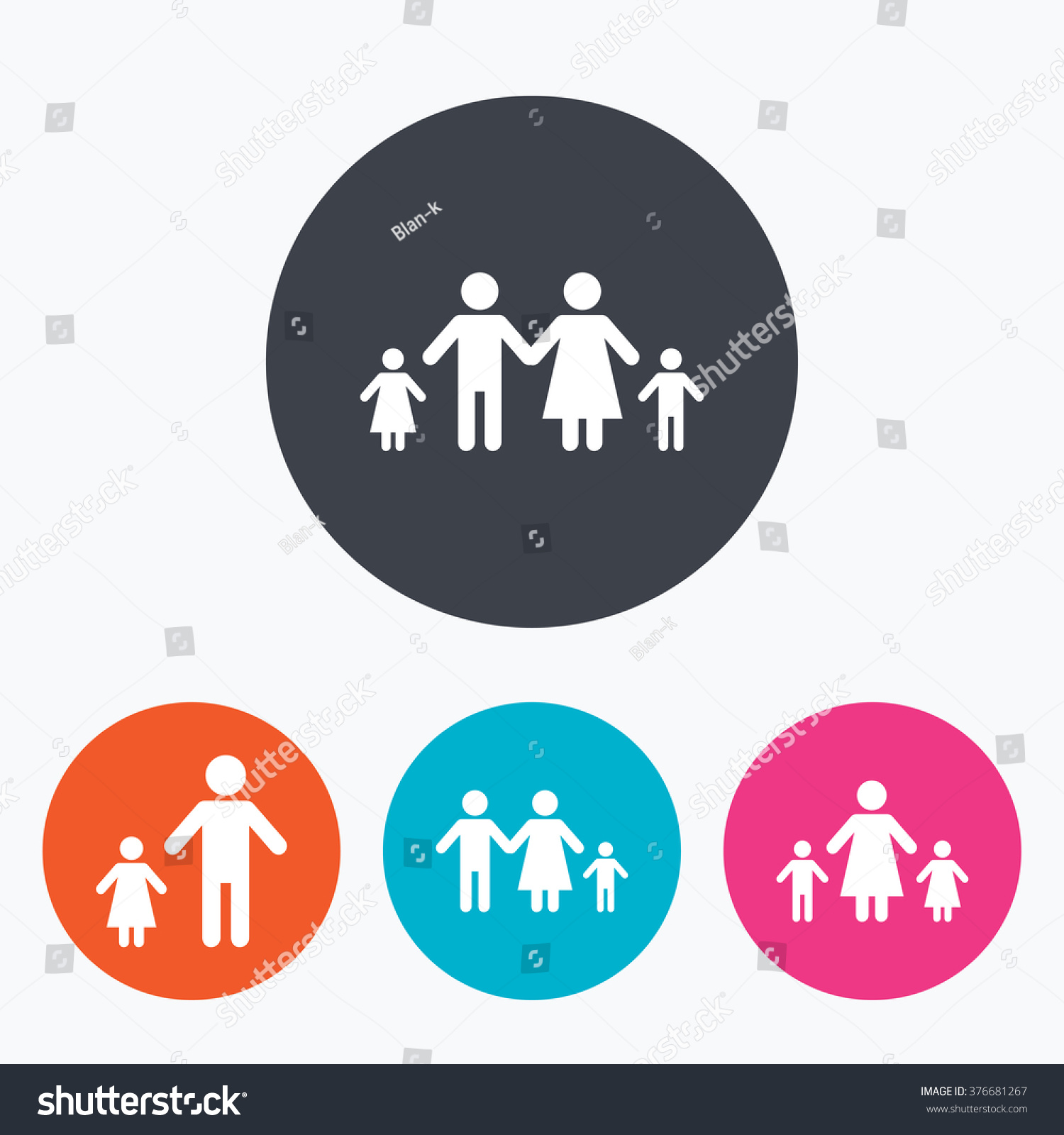 Family two children icon parents kids stock illustration 376681267 family with two children icon parents and kids symbols one parent family signs buycottarizona