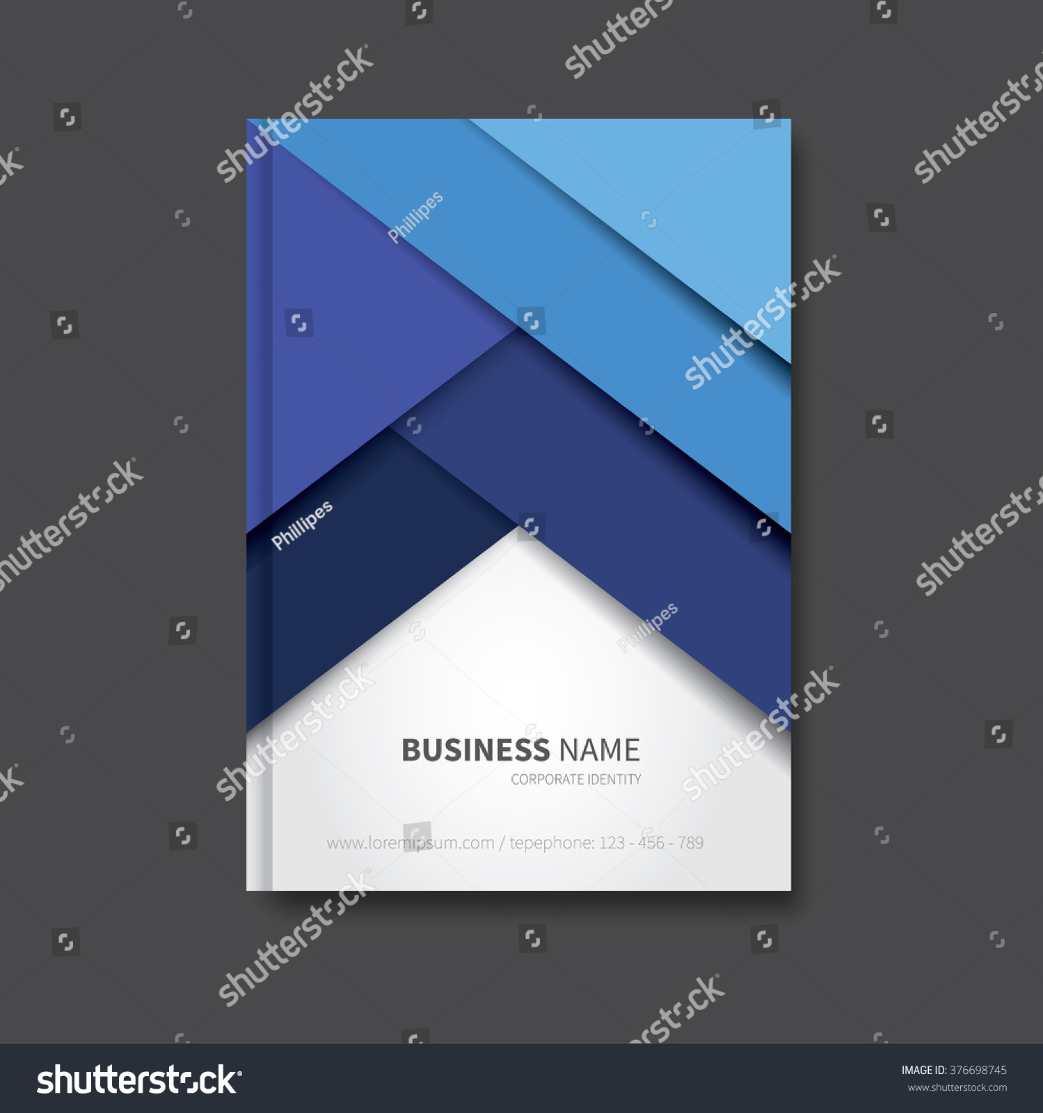 Corporate Book Cover Design Vector : Modern vector brochure background cover report stock