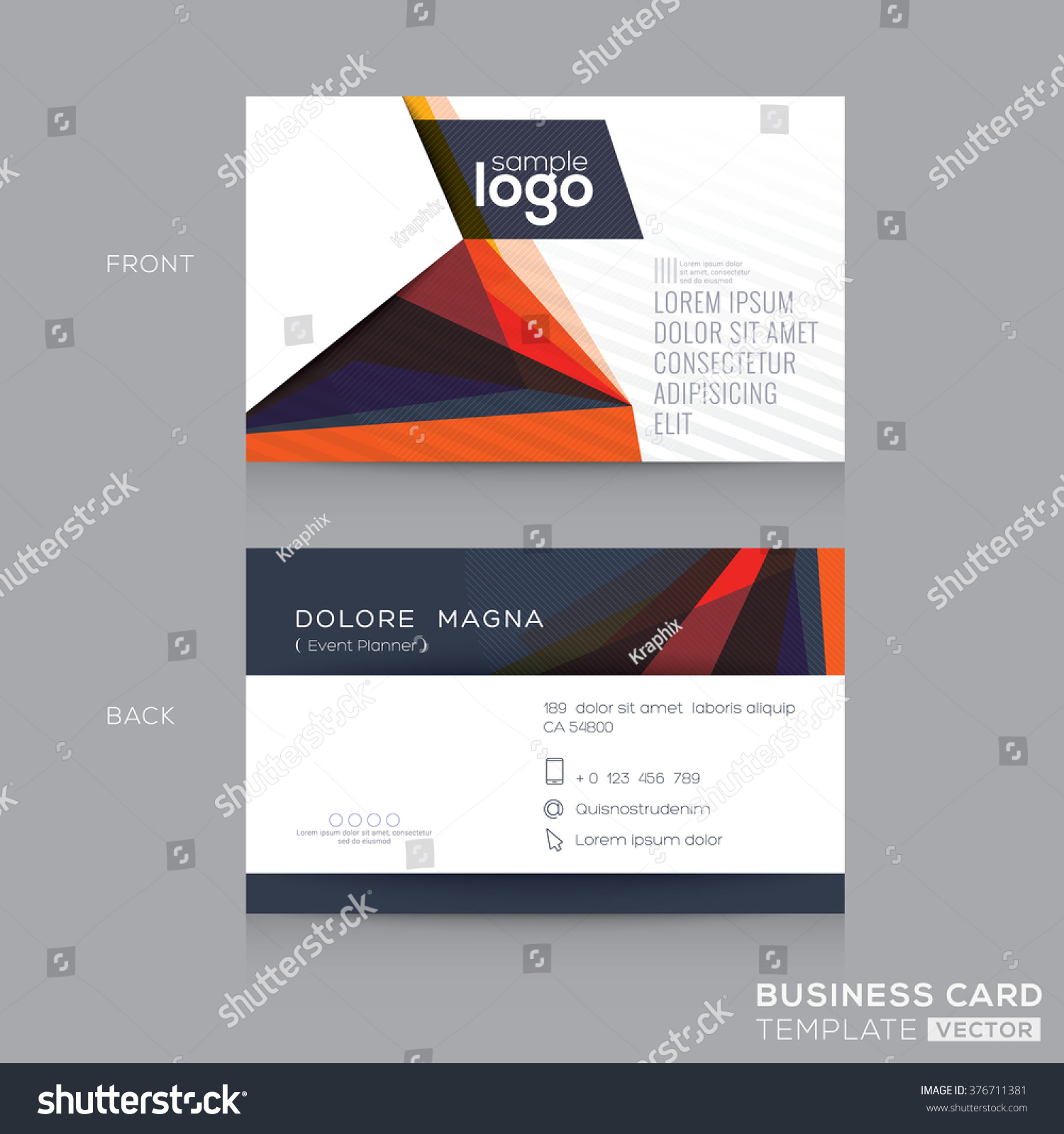 Abstract modern business cards design template stock vector abstract modern business cards design template magicingreecefo Choice Image
