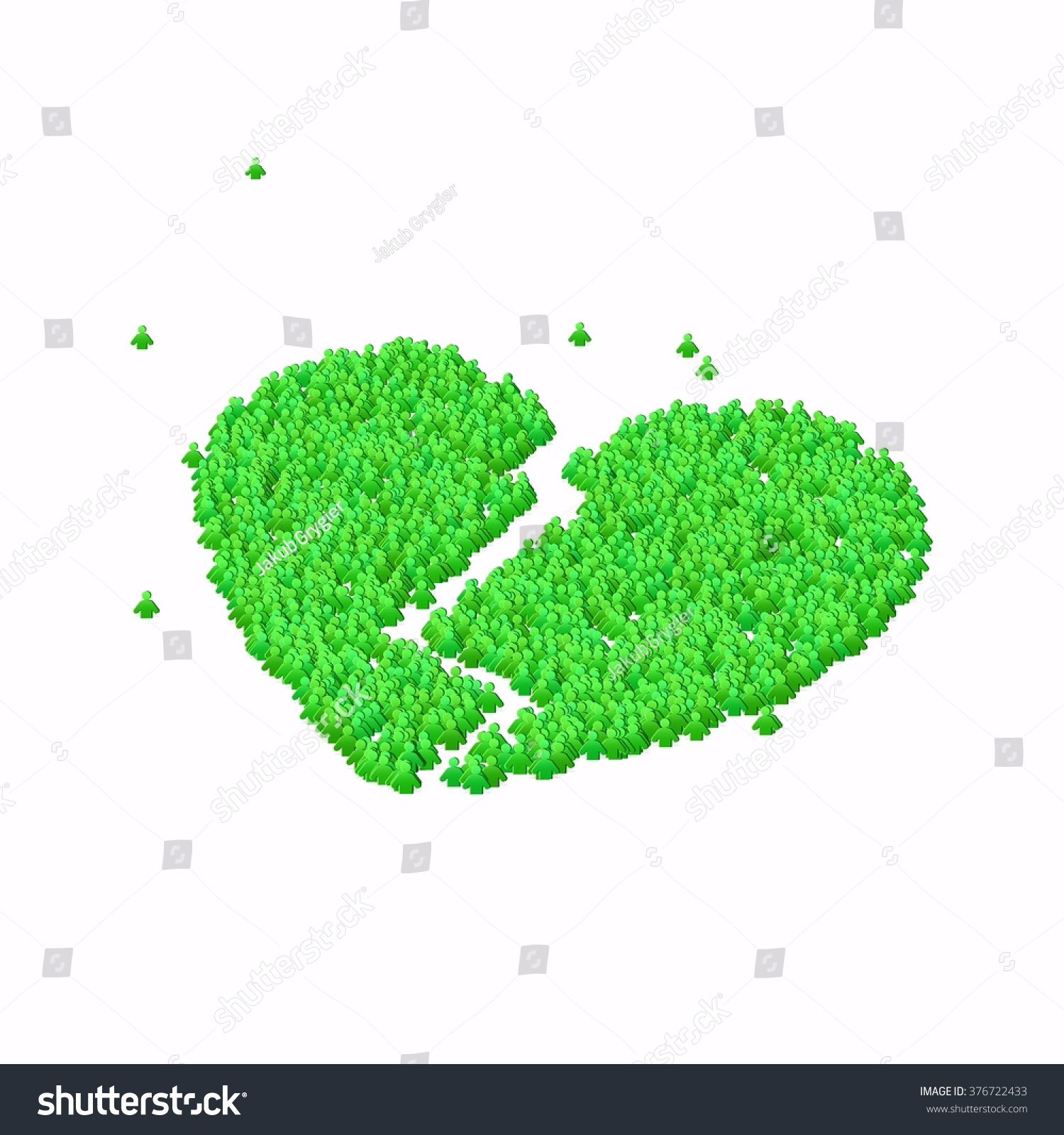 Broken heart symbol glyph out tiny stock illustration 376722433 broken heart symbol glyph out of tiny textures particles representing human and his emotions buycottarizona