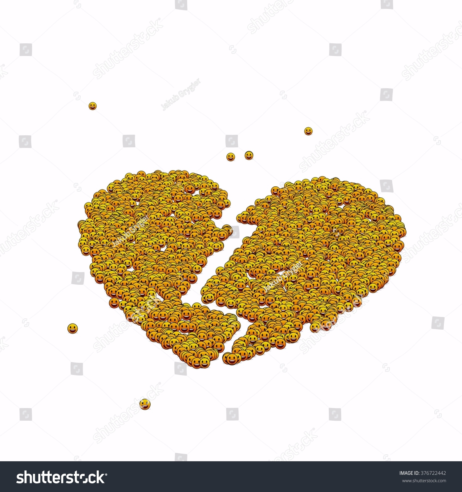 Broken heart symbol glyph out tiny stock illustration 376722442 broken heart symbol glyph out of tiny textures particles representing human and his emotions biocorpaavc