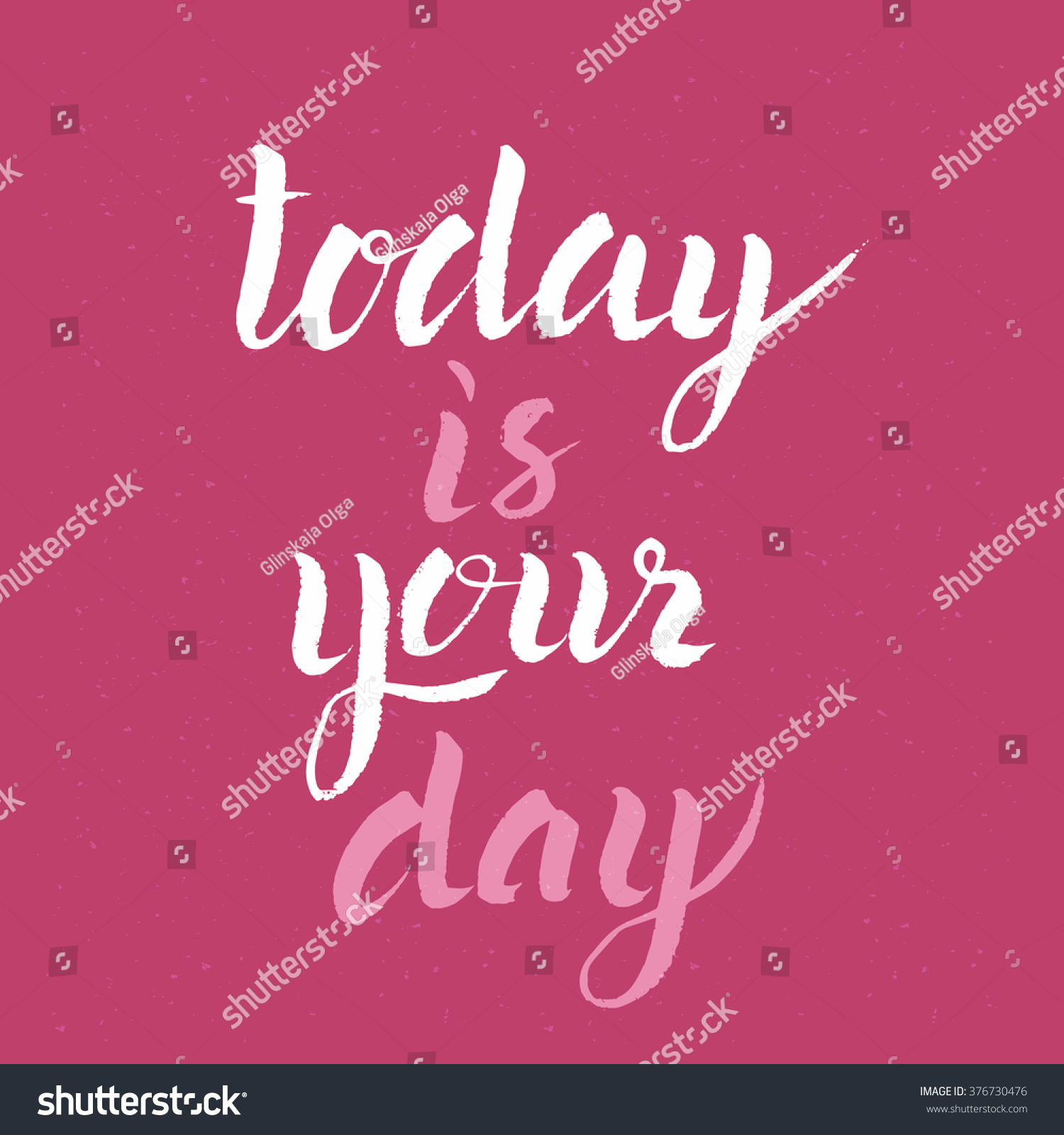 Inspirational Hand Drawn Quote Today Your Stock Vector Royalty Free