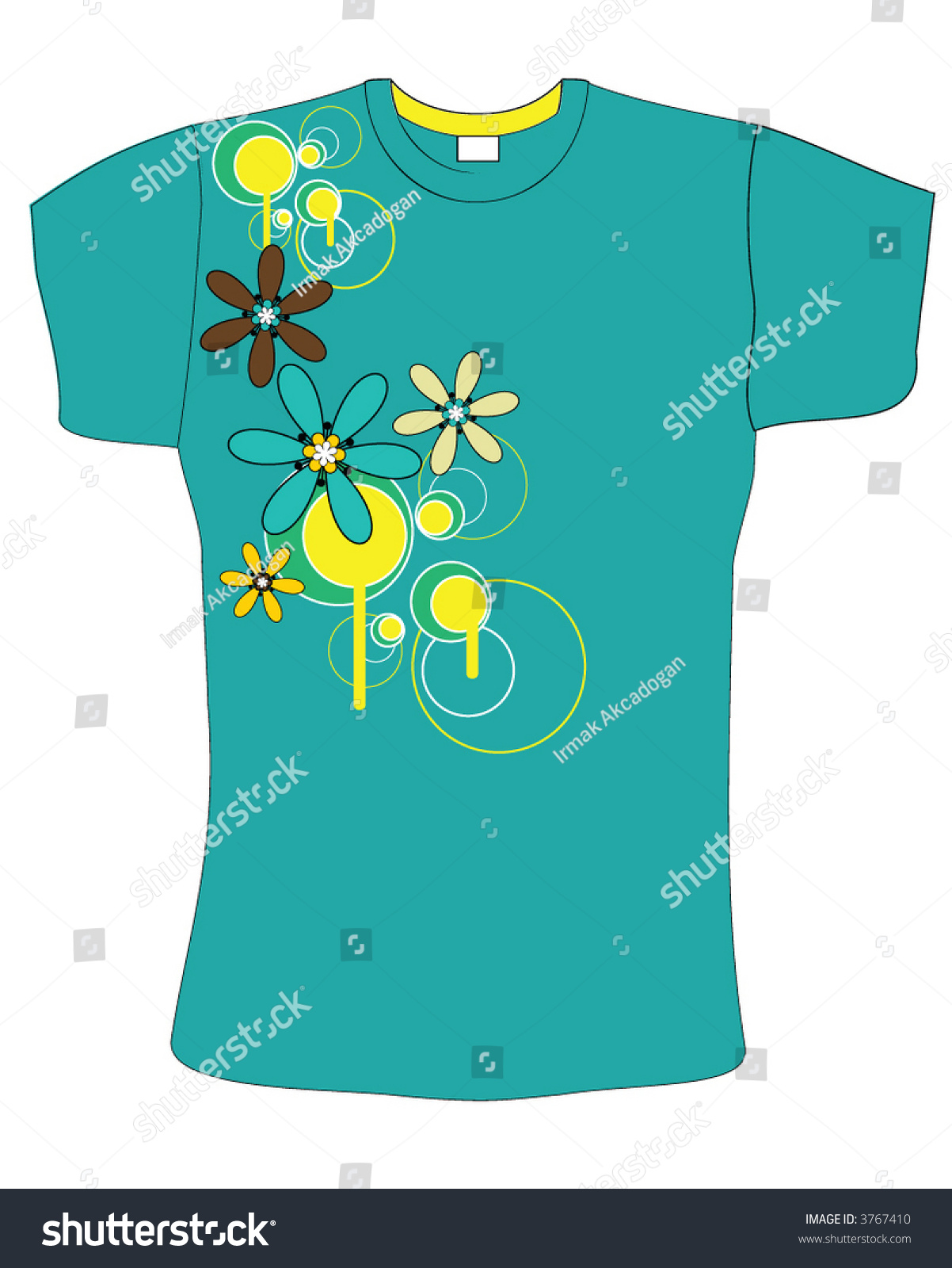 Retro abstract blue color vector t shirt design 3767410 for Shutterstock t shirt design