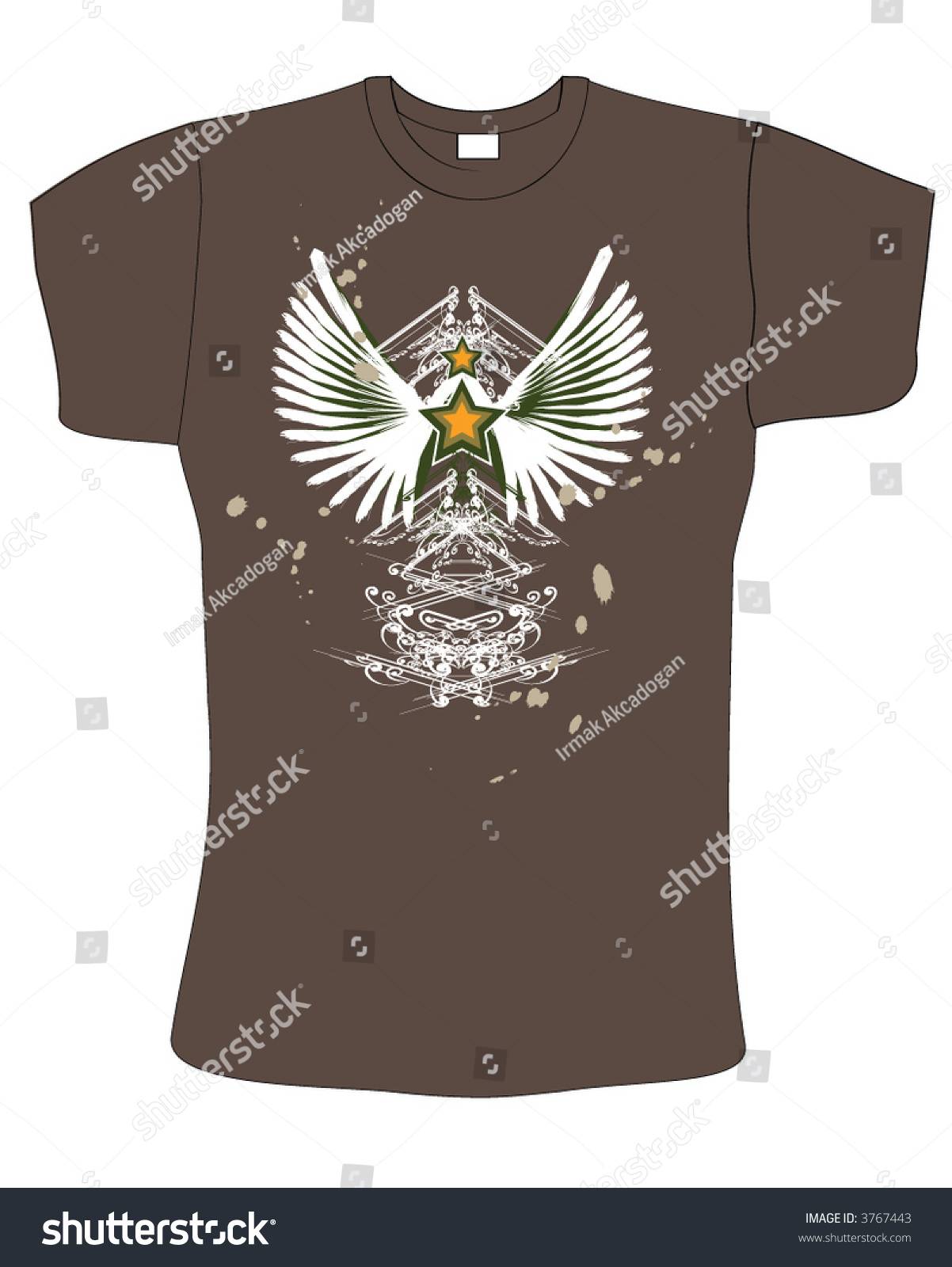 Retro abstract brown color vector t shirt design 3767443 for Shutterstock t shirt design