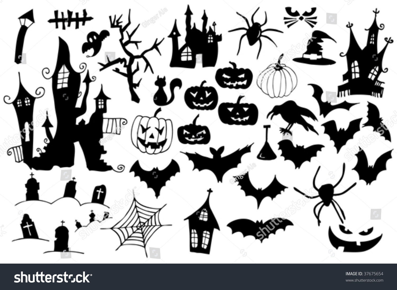 Collection halloween symbols easy edit vector stock vector collection of halloween symbols easy to edit vector image biocorpaavc Choice Image