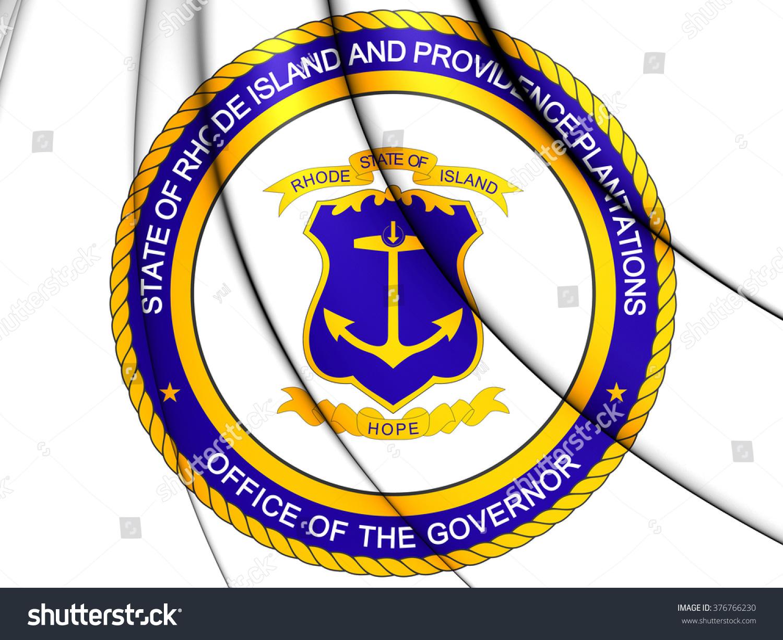 3 D Governor Rhode Island Seal Usa Stock Illustration 376766230
